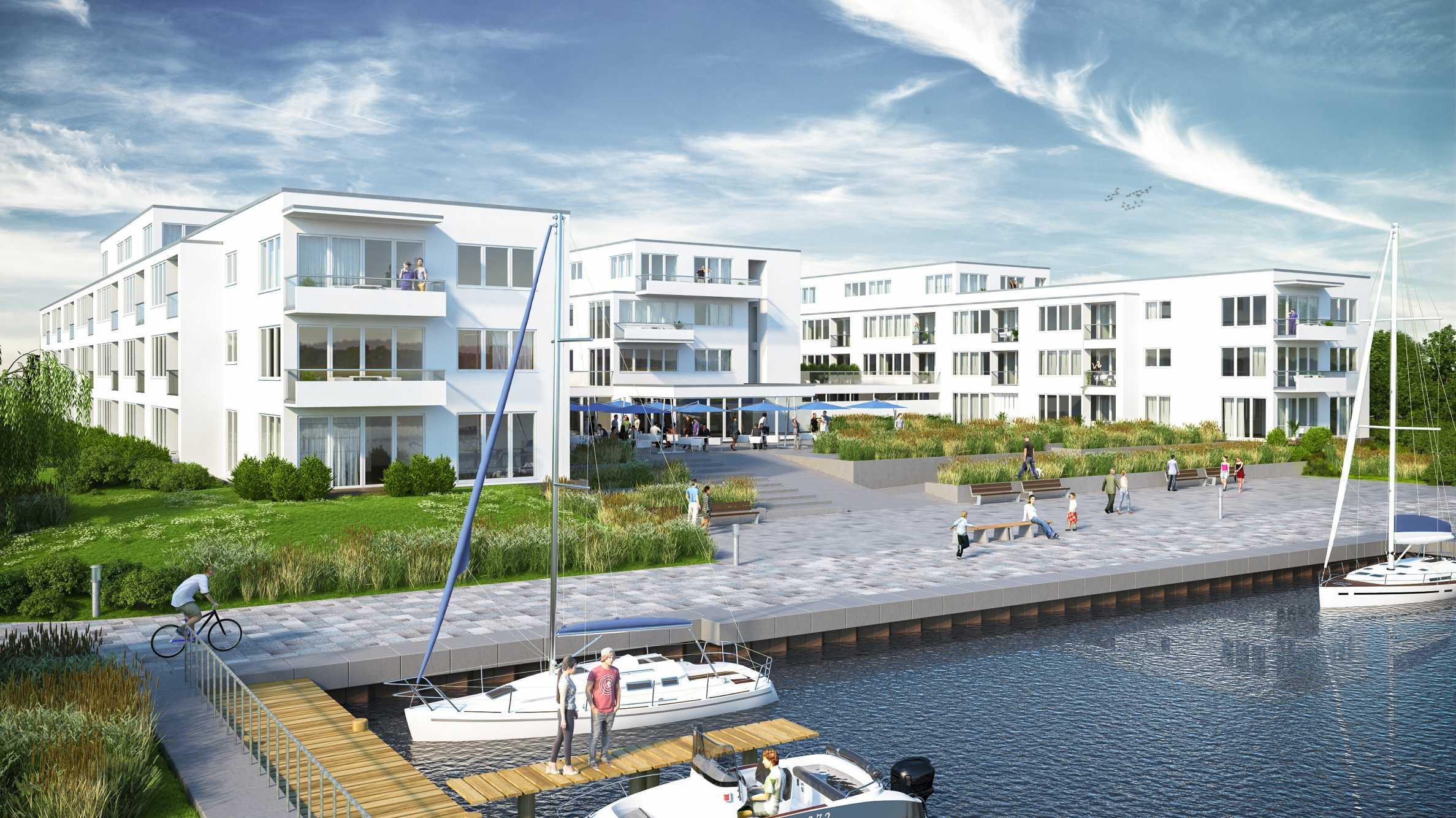 Резиденция на езеро с яхтено пристанище и СПА център1 - Stonehard