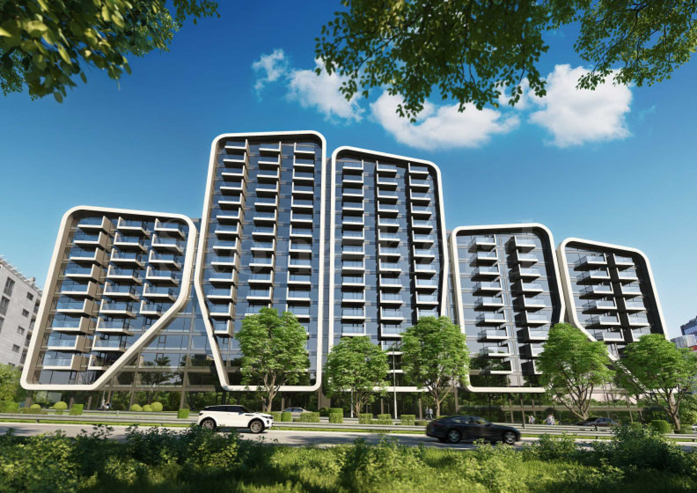 Stylish apartments in a new building with unique architecture1 - Stonehard
