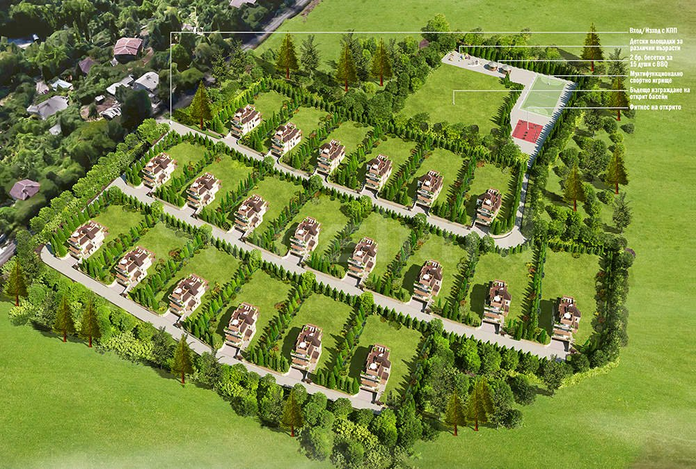Gated complex with luxurious houses near Ring Mall and Business Park Sofia1 - Stonehard