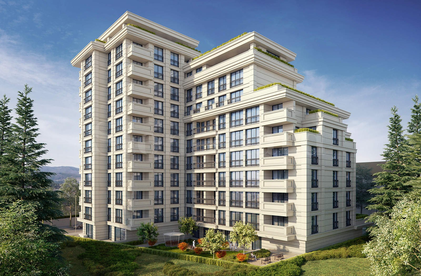 Modern building with luxury apartments in Lozenets District1 - Stonehard