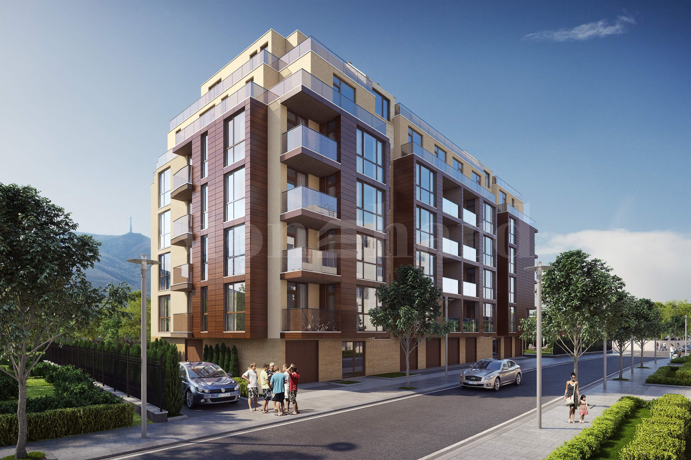Luxurious building with two-bedroom apartments in