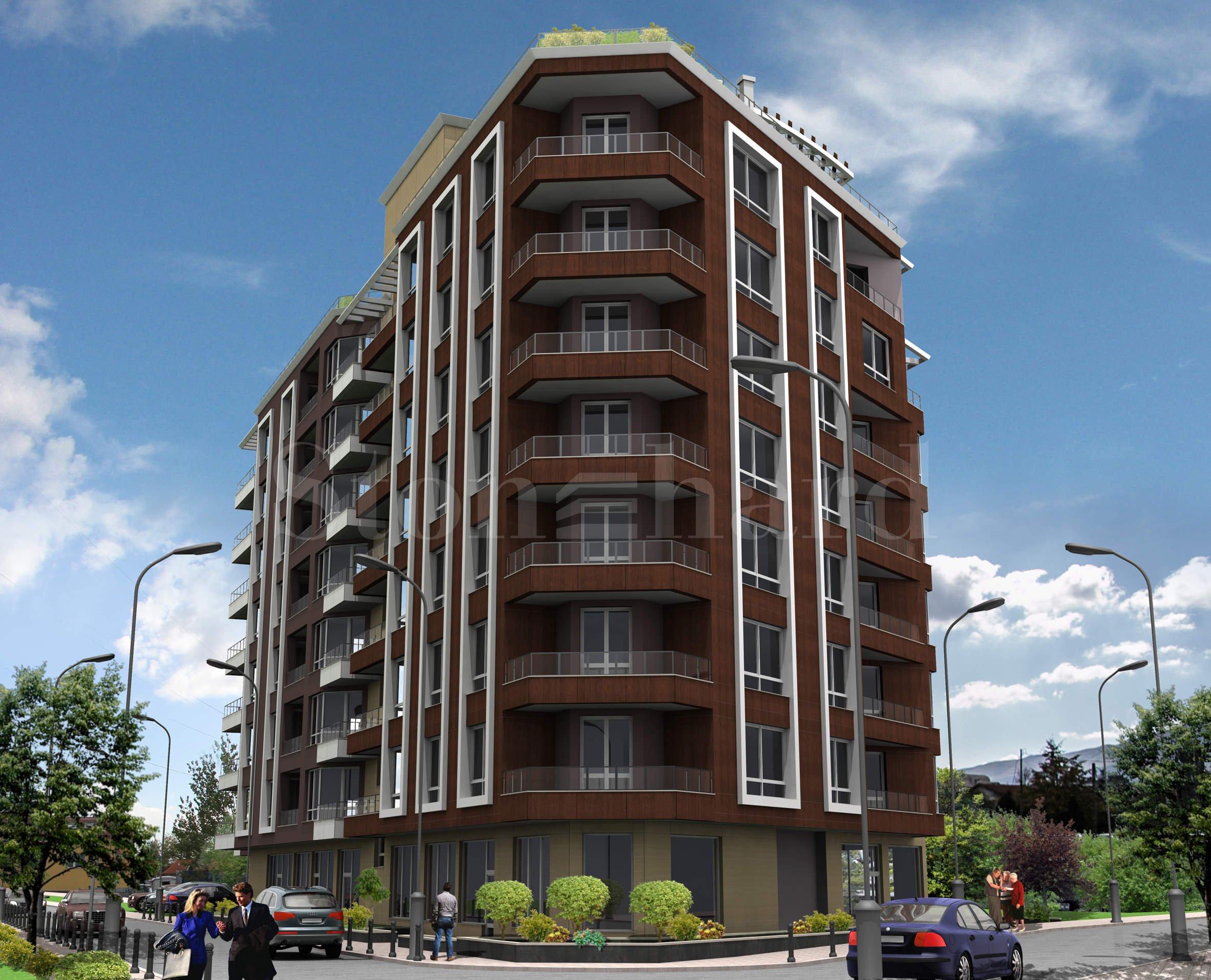 Малък комплекс от две сгради с апартаменти до бул. Черни връх и Mall Paradise2 - Stonehard
