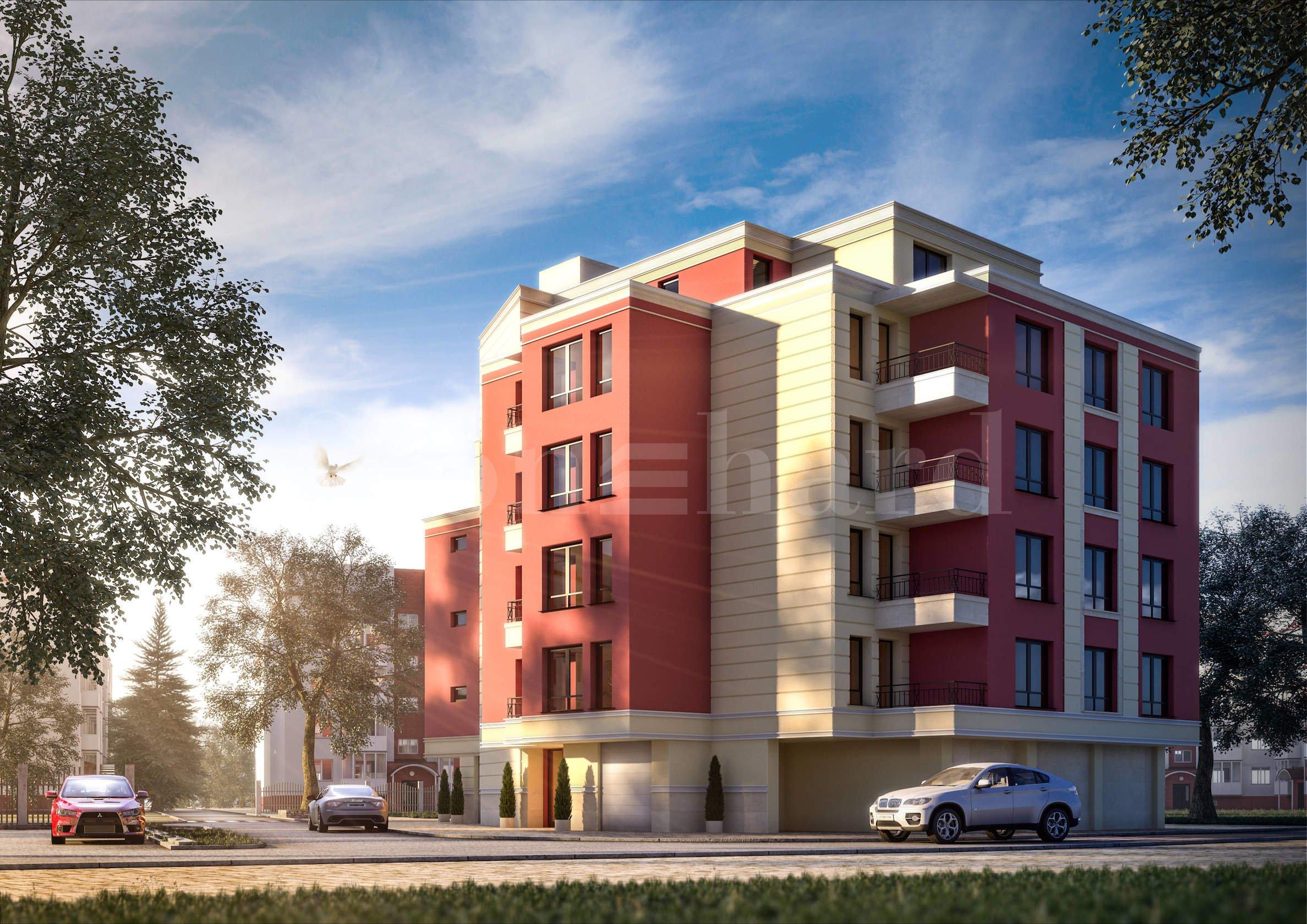 Многофамилна жилищна сграда с гаражи и паркоместа1 - Stonehard