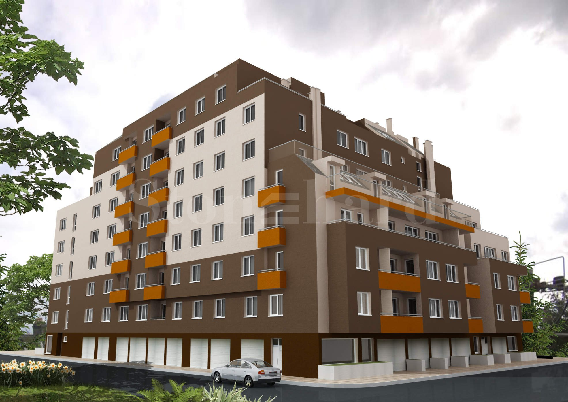 Modern residential complex with city apartments1 - Stonehard