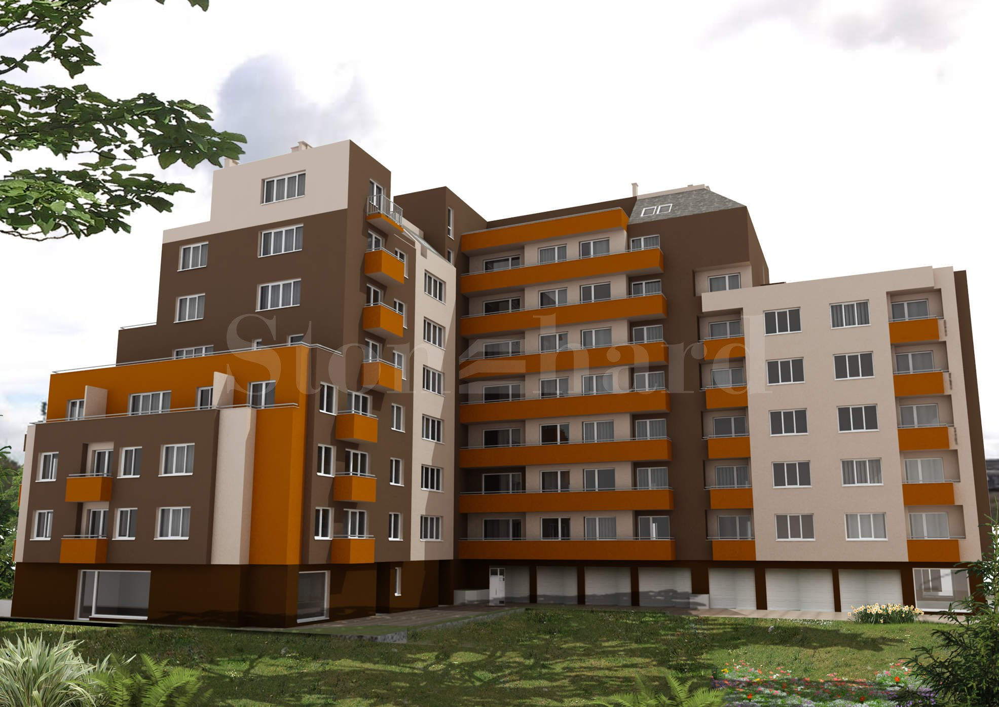 Modern residential complex with city apartments2 - Stonehard