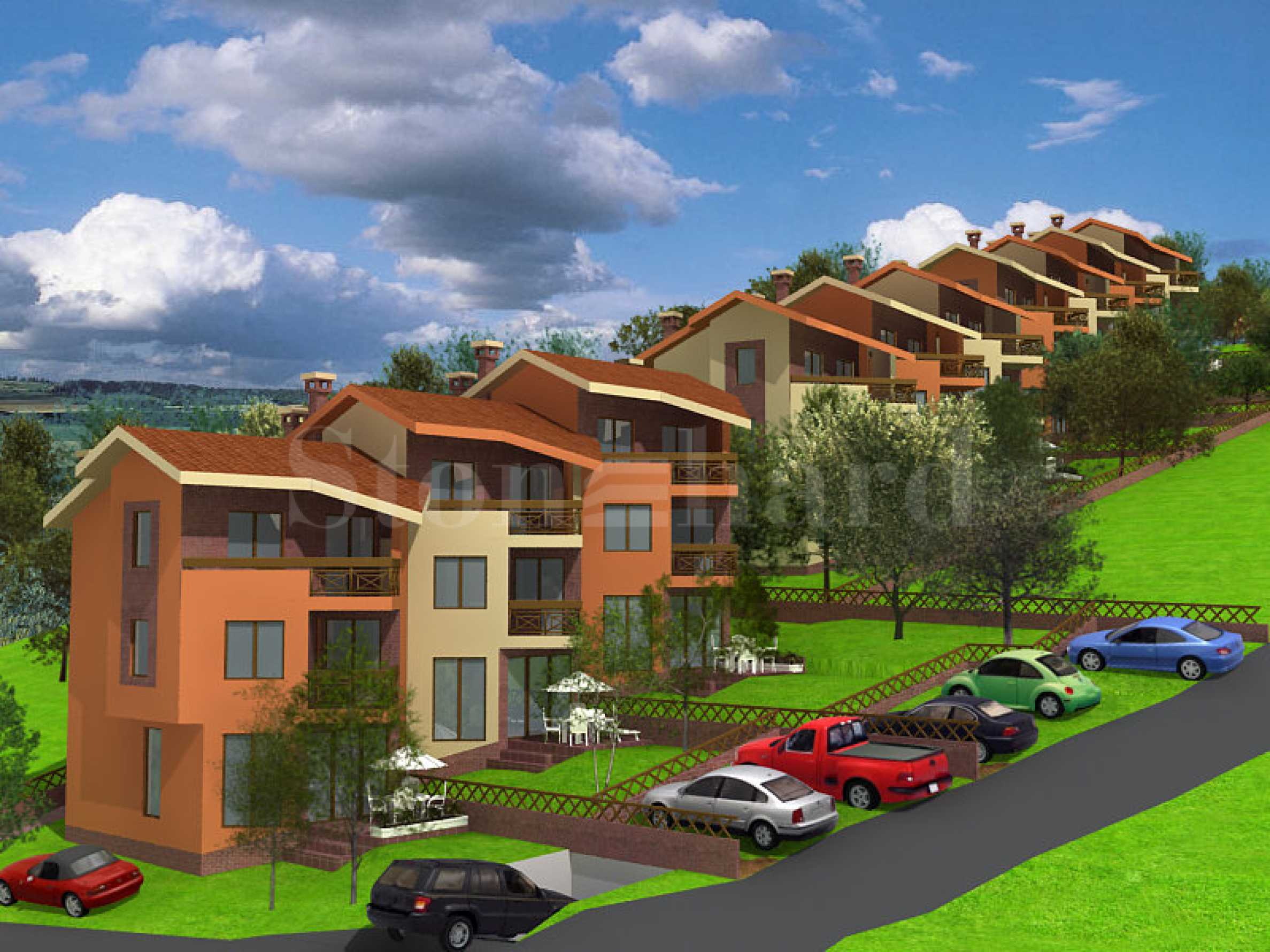 New townhouses at the foot of the mountain1 - Stonehard