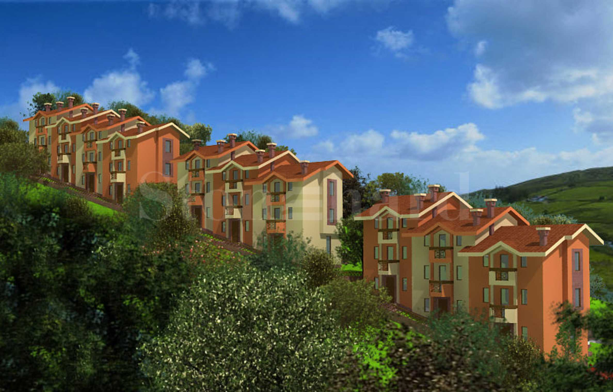 New townhouses at the foot of the mountain2 - Stonehard