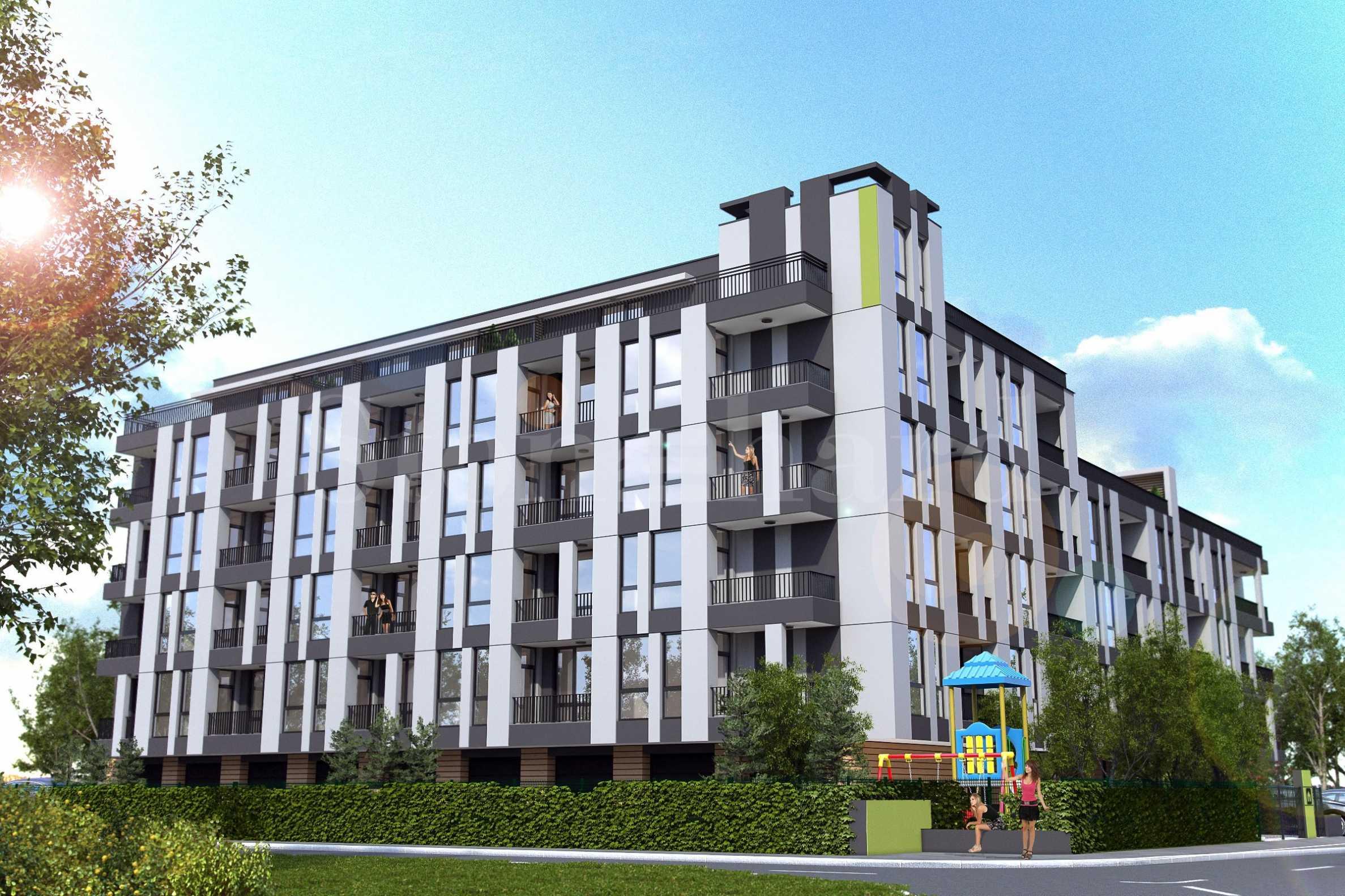 Нова жилищна сграда с контролиран достъп и богато озеленяване1 - Stonehard