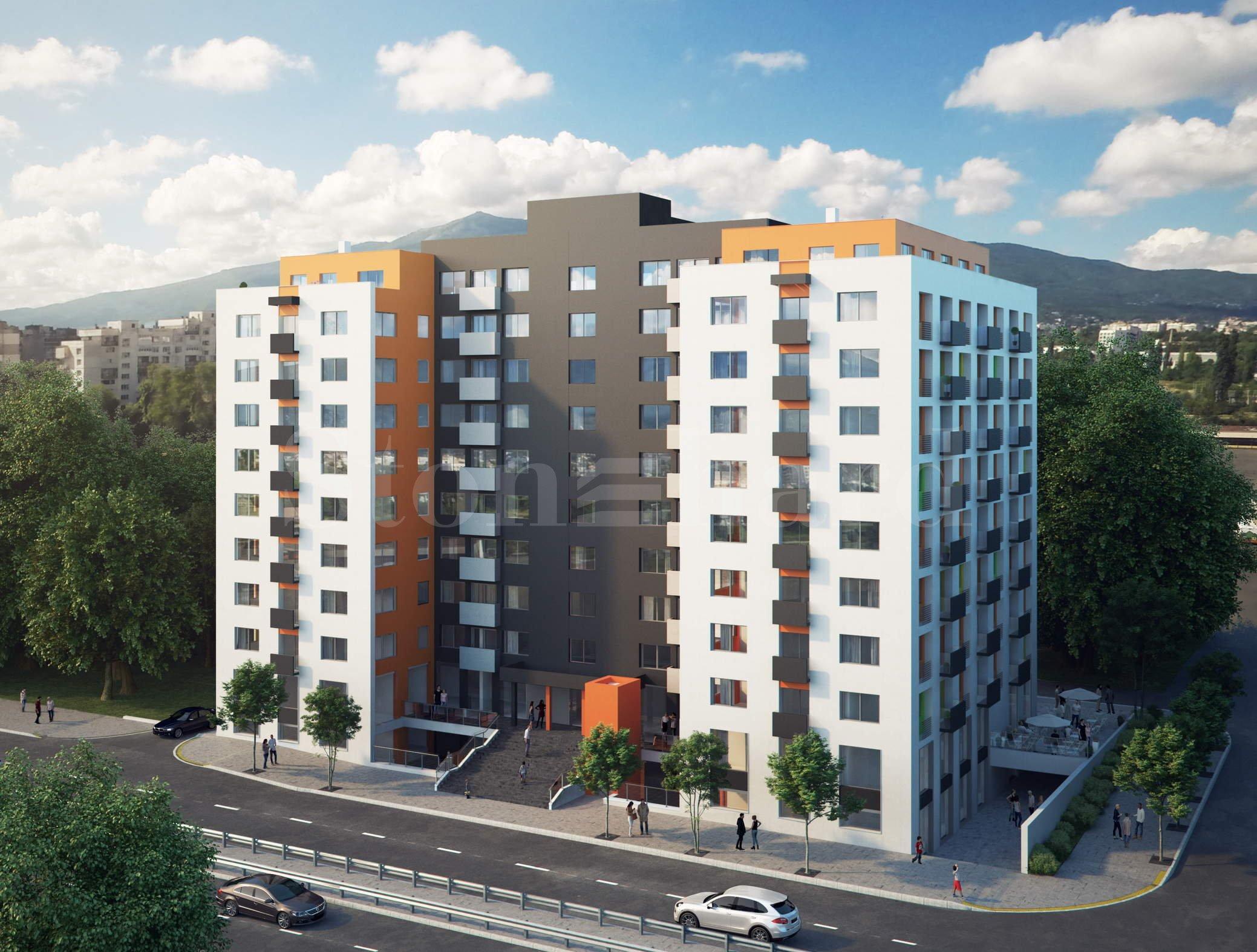 Реконструирана жилищна сграда на комуникативно място в кв.