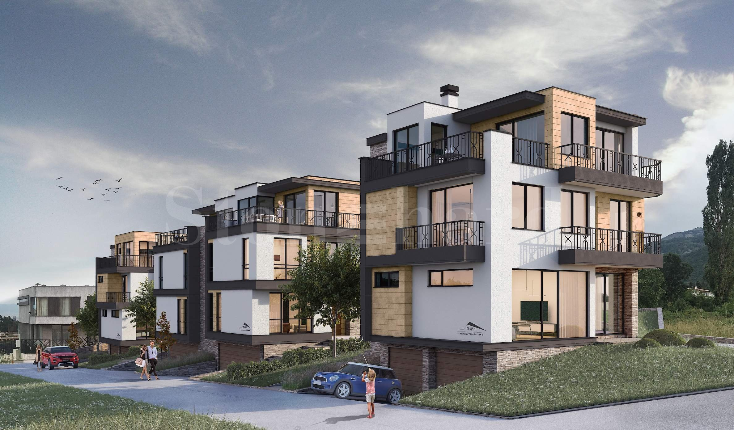 Brand-new luxury 3-storey townhouses close to the Boyana Residence, Sofia1 - Stonehard
