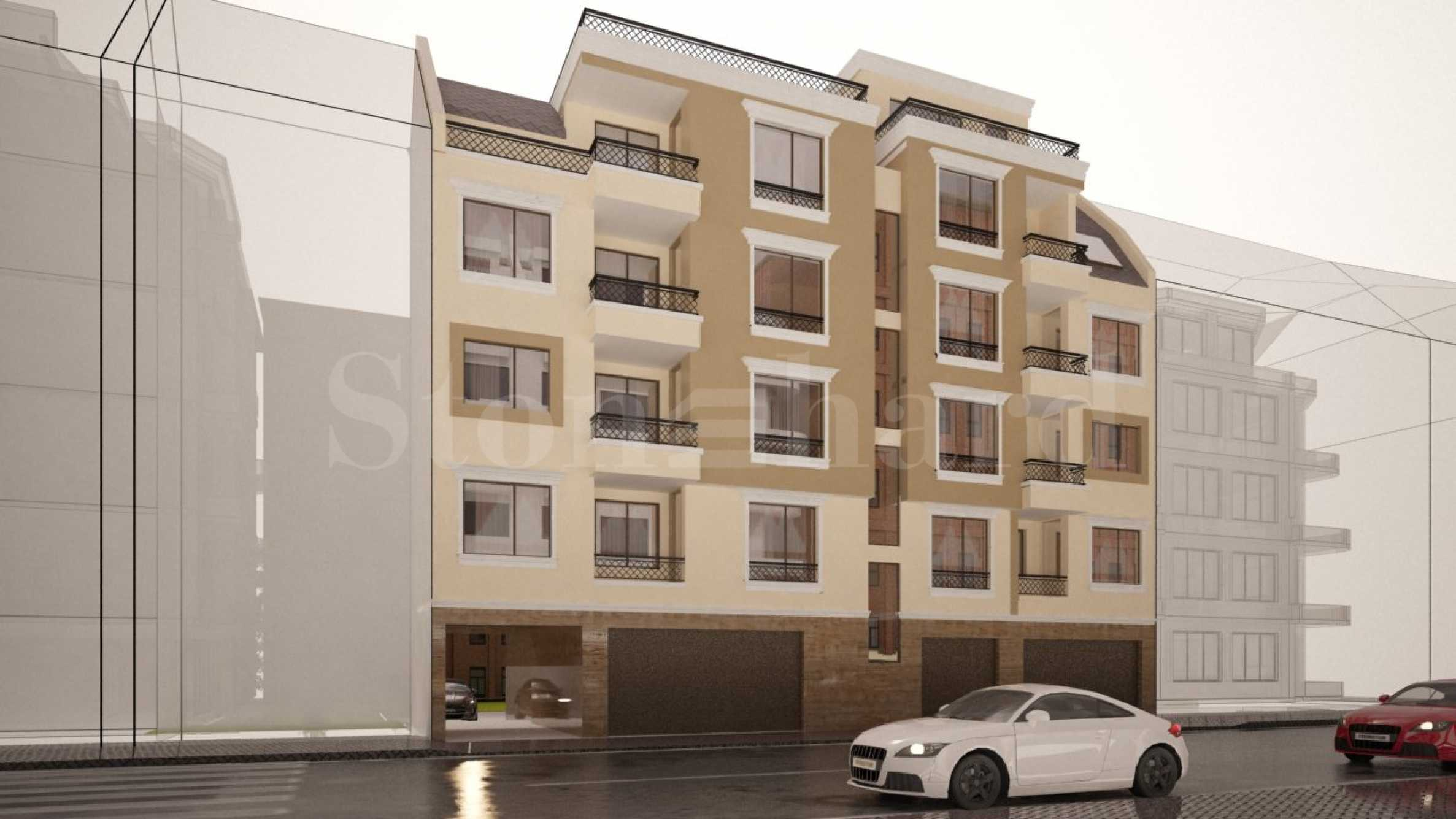 New elegant 5-storey building near the park in Burgas 1 - Stonehard