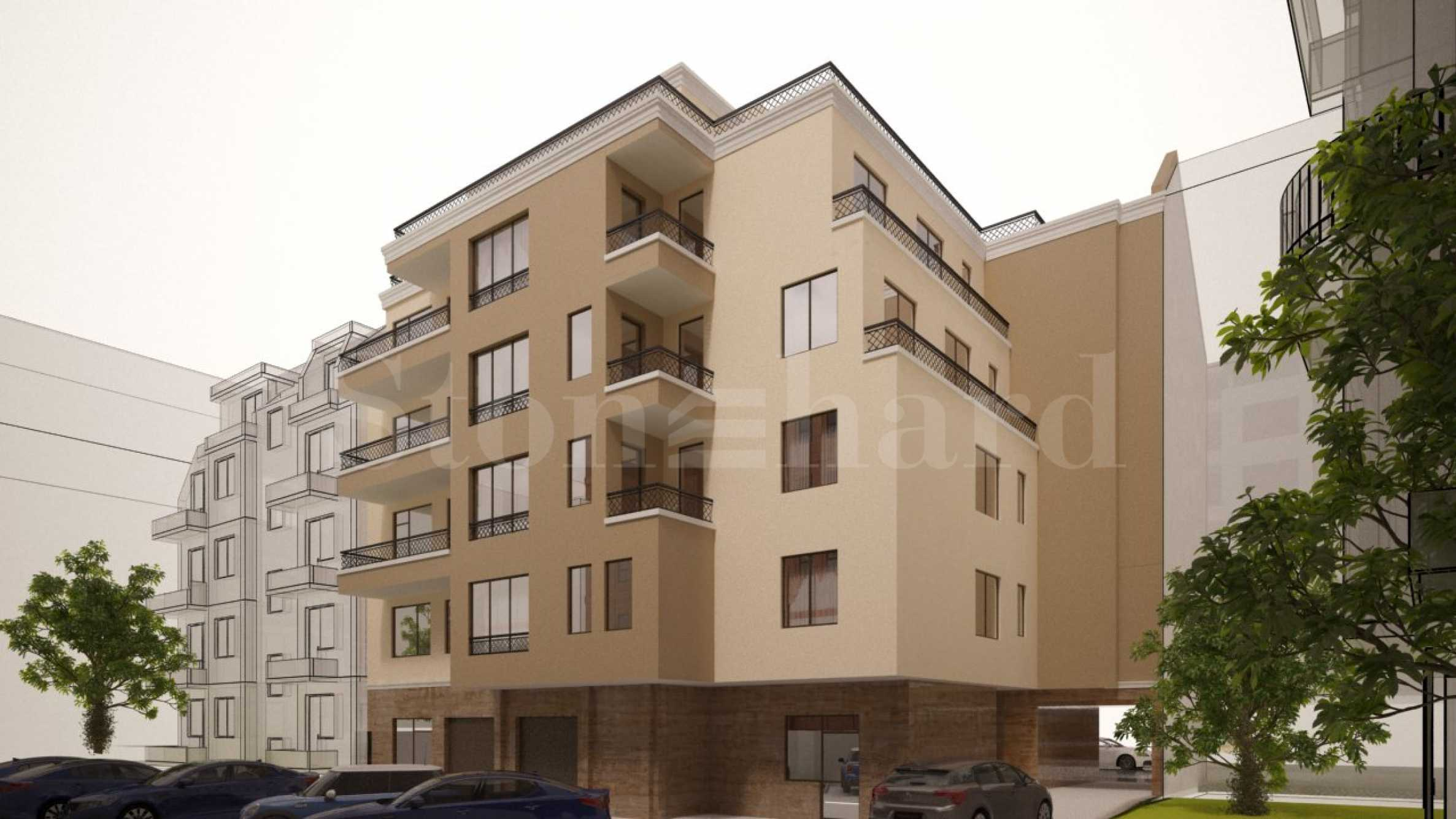 New elegant 5-storey building near the park in Burgas 2 - Stonehard