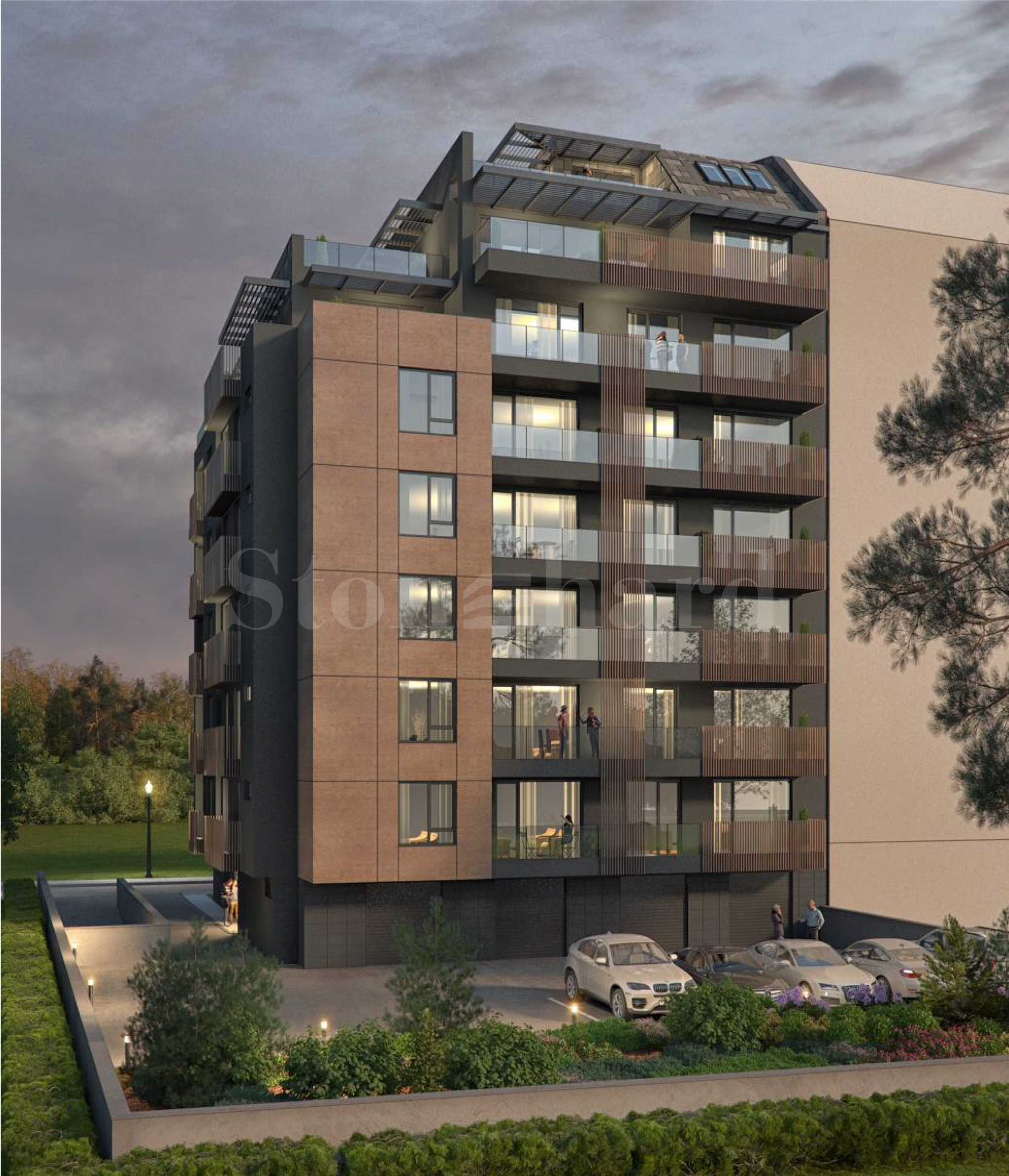 Новострояща се, девететажна жилищна сграда в престижния южен квартал