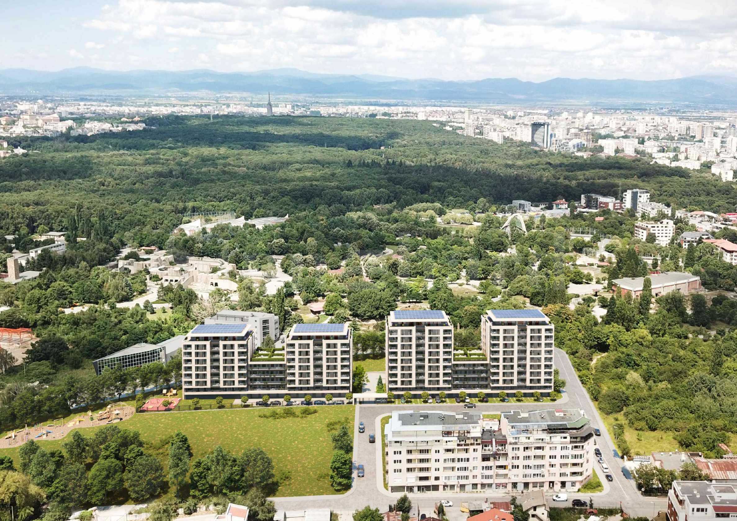 Голям жилищен комплекс със зелени площи до Ловен парк - Борисова градина1 - Stonehard
