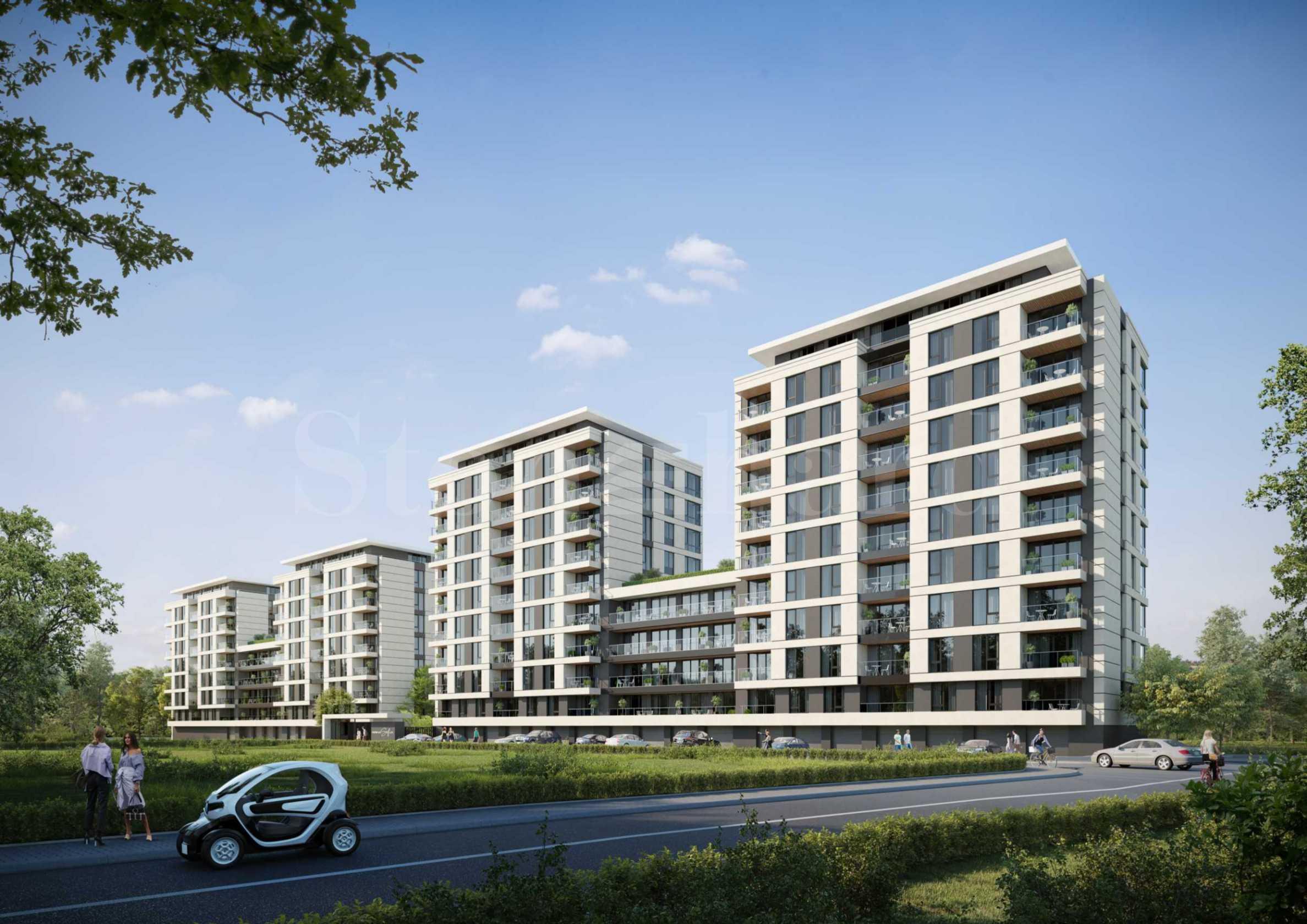 Голям жилищен комплекс със зелени площи до Ловен парк - Борисова градина2 - Stonehard
