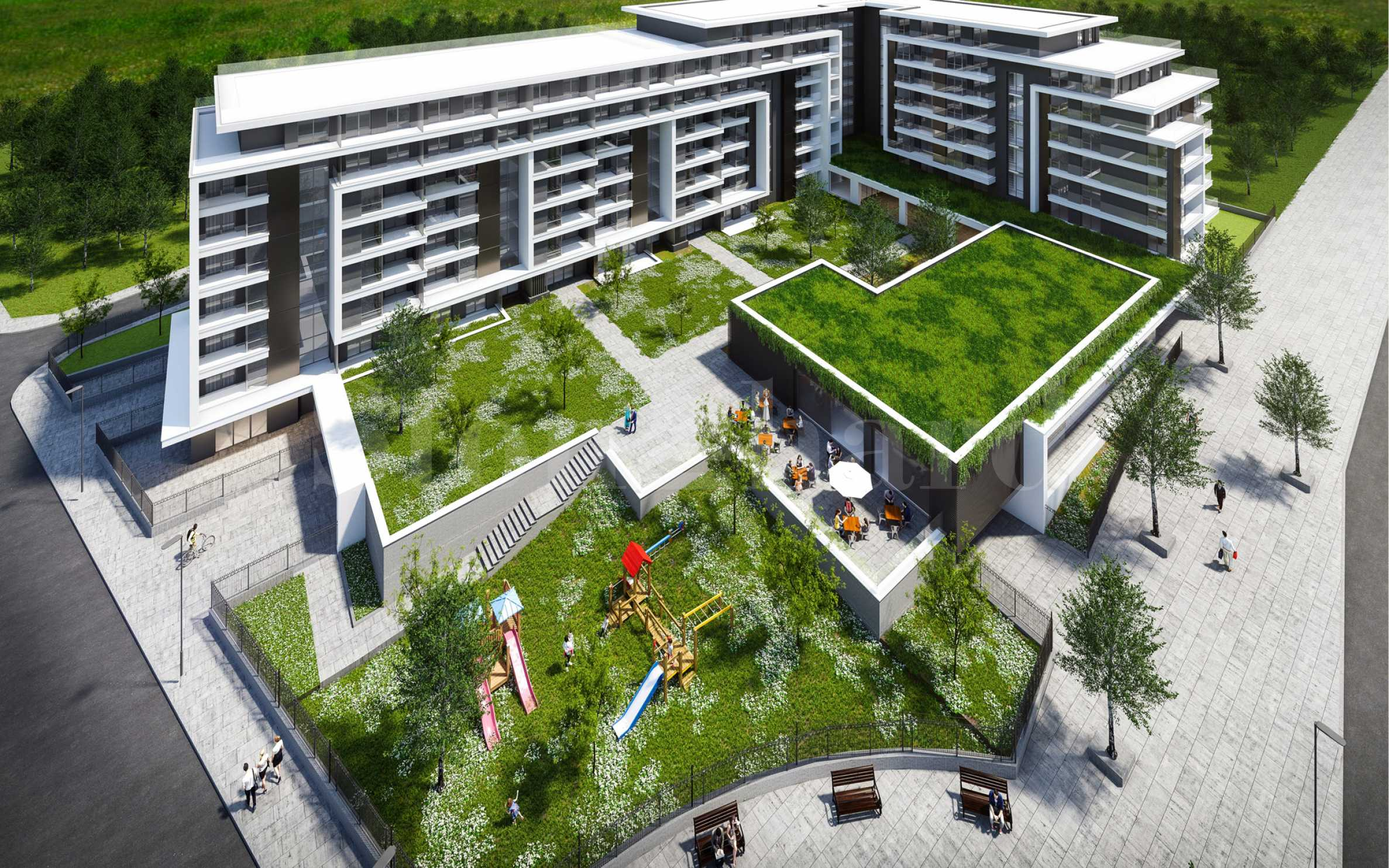 Complex with security and park environment for future kindergarten and amenities2 - Stonehard
