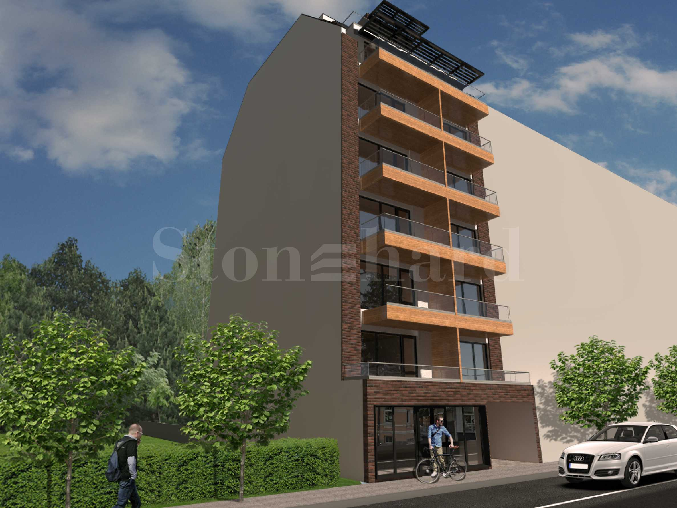High-rise residential building with one-bedroom apartments in the wide center1 - Stonehard