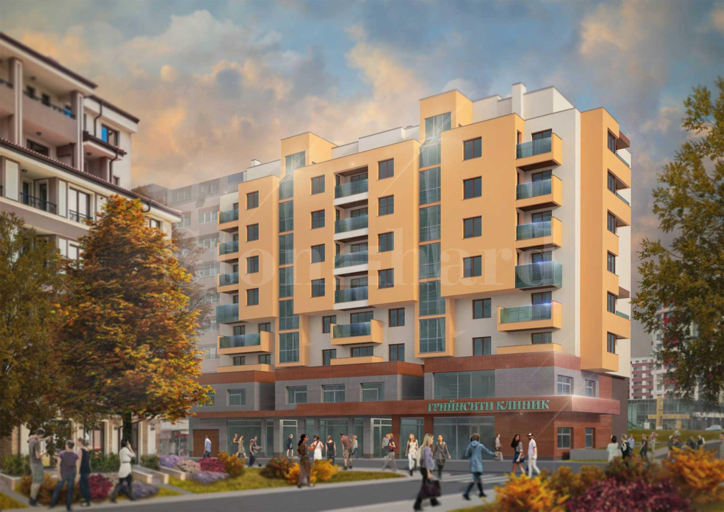 Нова жилищна сграда с магазин, аптека и медицински център1 - Stonehard