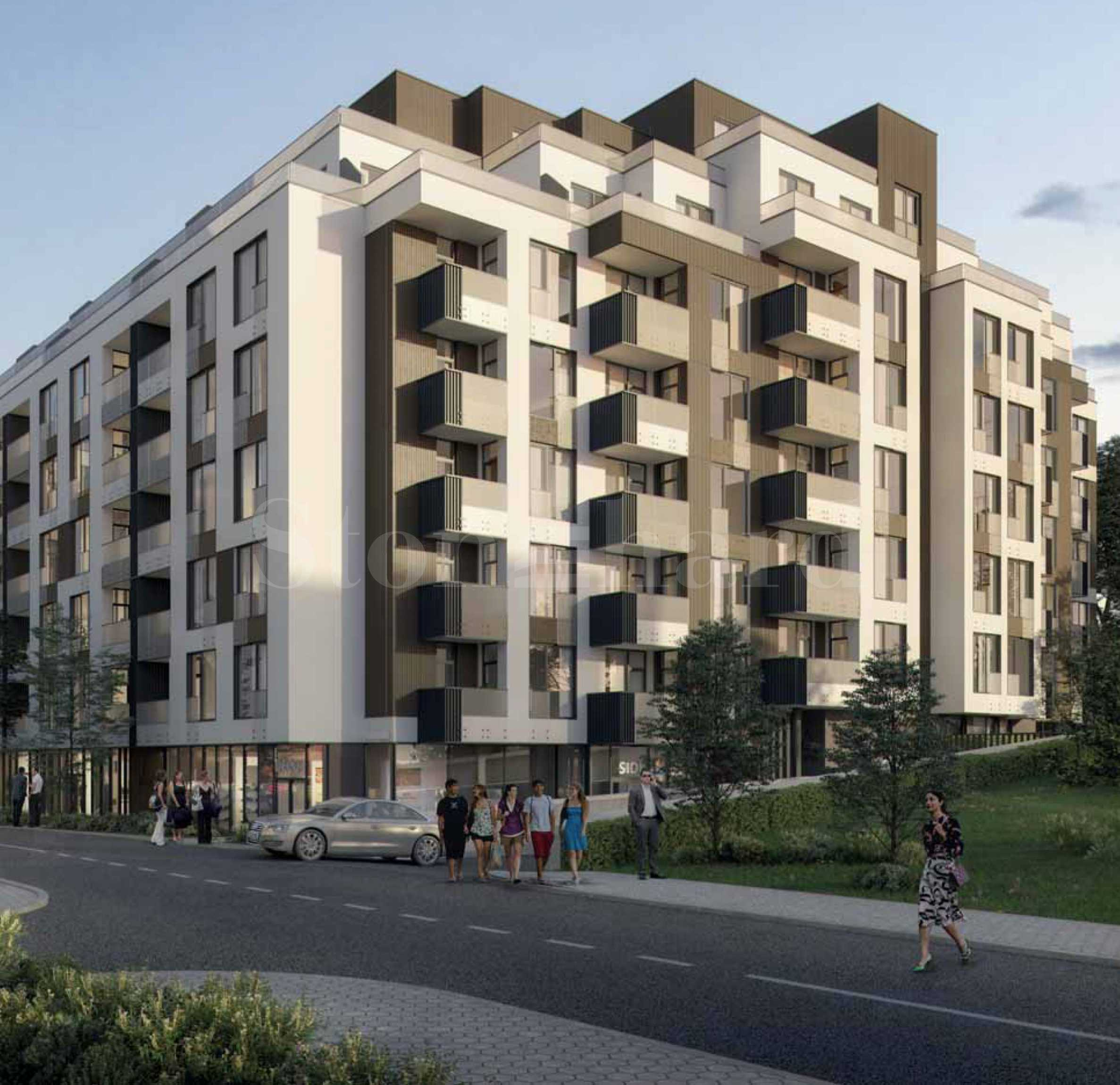 Residential building with a modern vision next to a metro station in Druzhba 21 - Stonehard