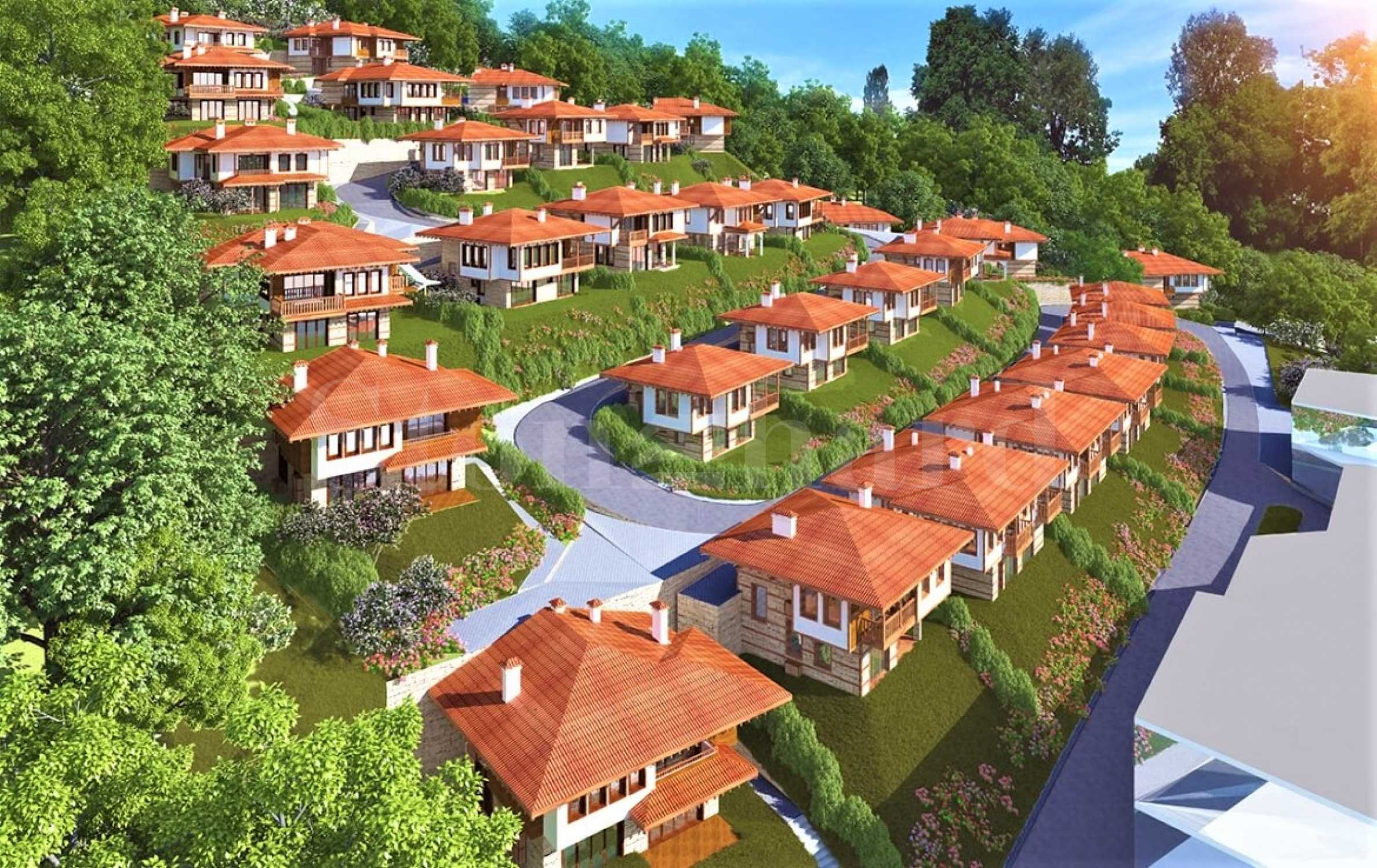 Eco-complex of new houses with Revival architecture in Saint Vlas1 - Stonehard