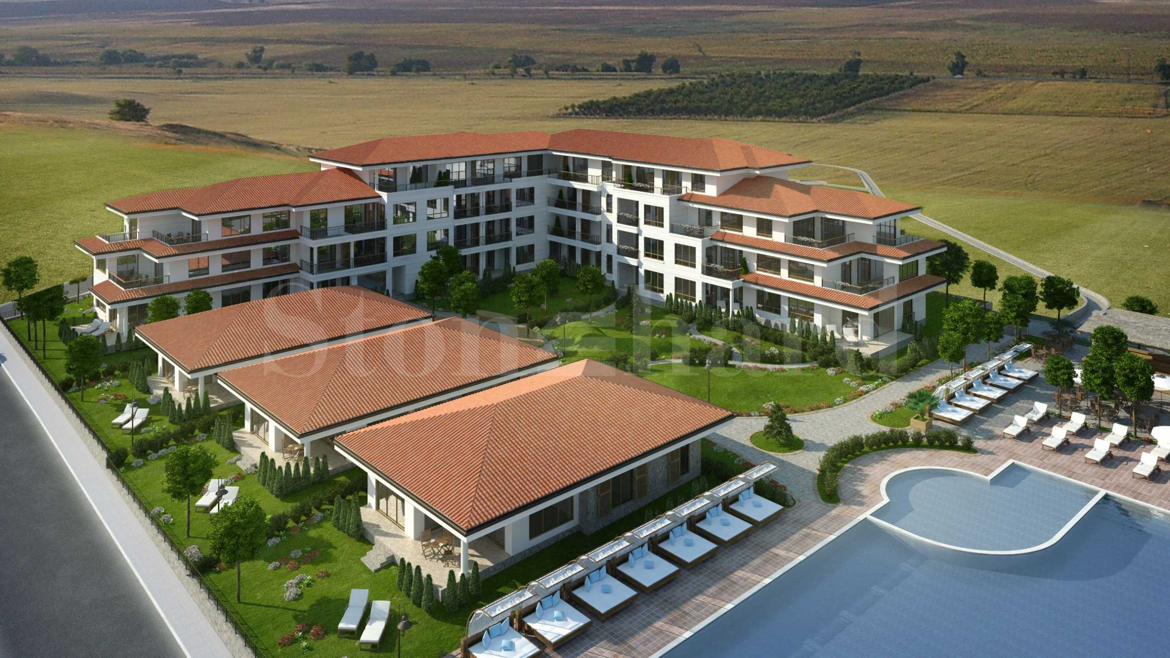 New apartments in an eco-friendly seaside area - a pleasant terraced design complex with sea views, near Aheloy1 - Stonehard