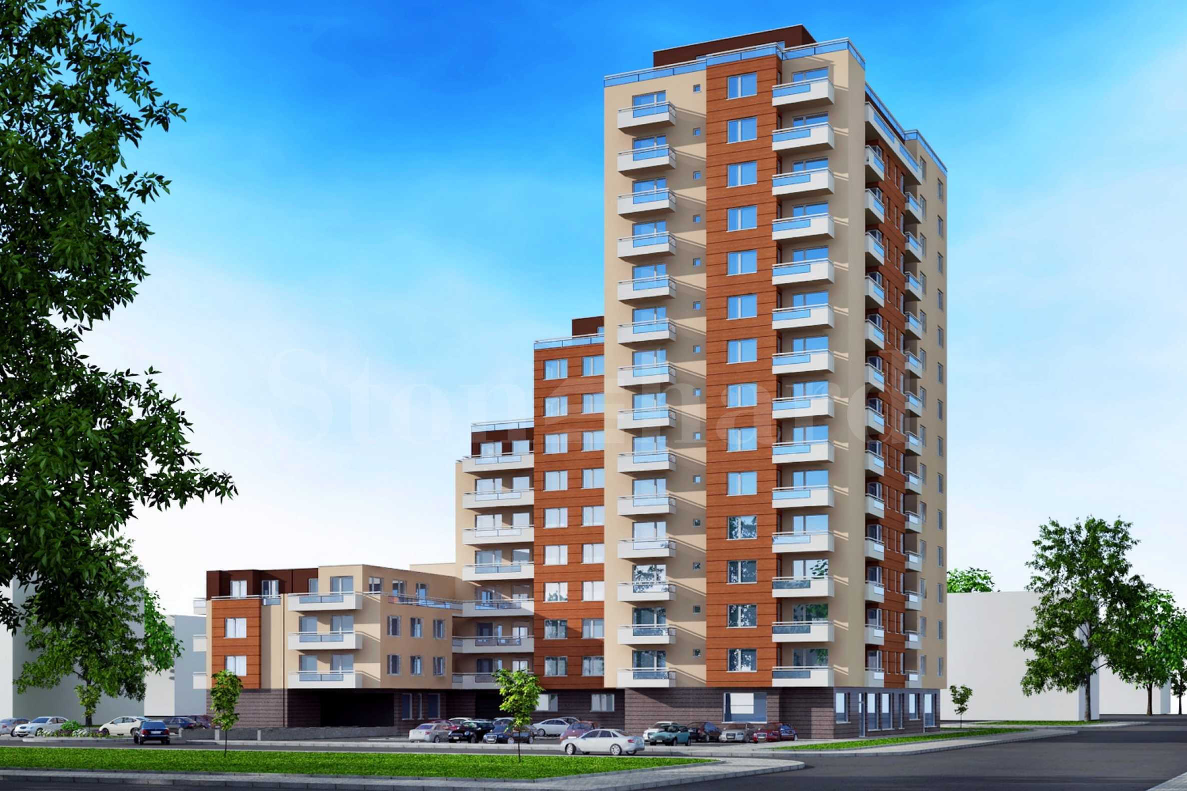 New building with a choice of apartments at attractive prices in