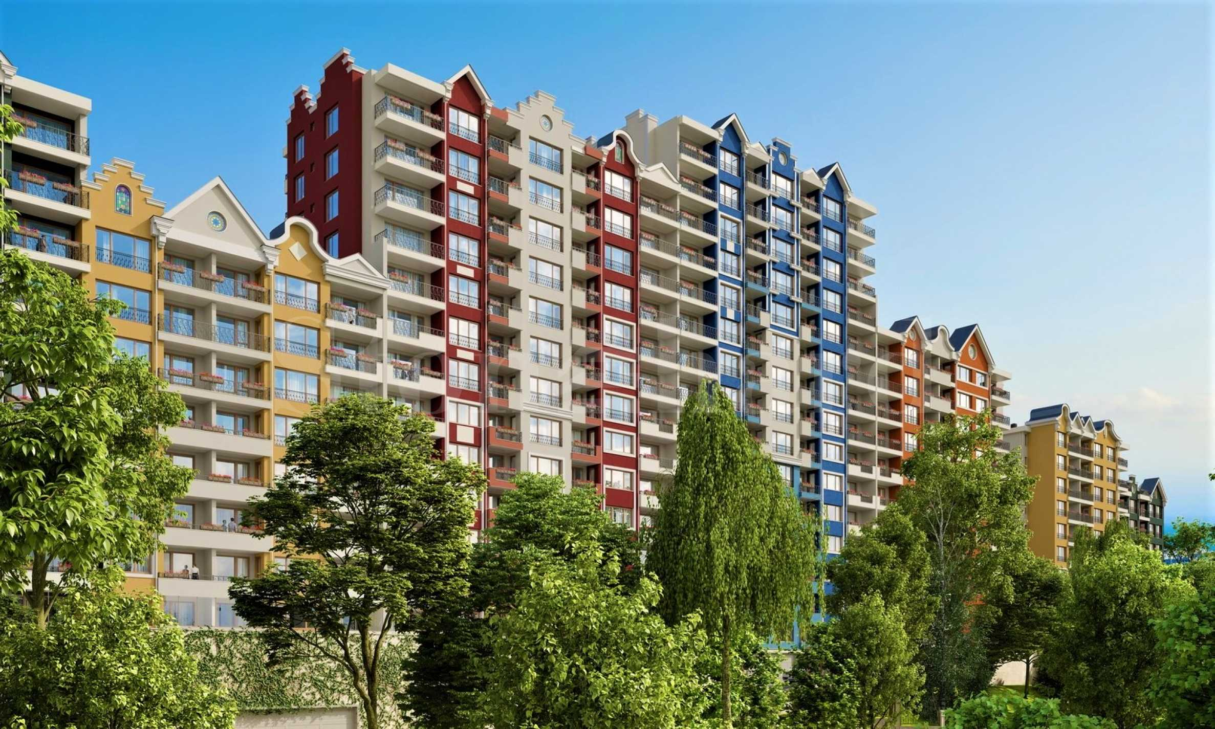 <span style='color:red'>PRE-SALE.</span> New complex in the Dutch Street-style in Varna1 - Stonehard