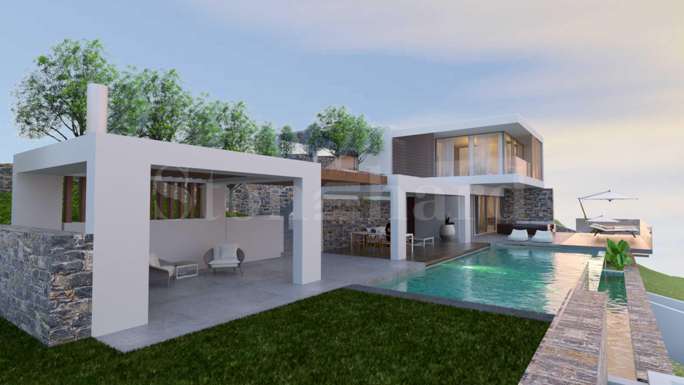 Луксозни вили ново строителство, 1-ва линия на морето на о-в Крит1 - Stonehard