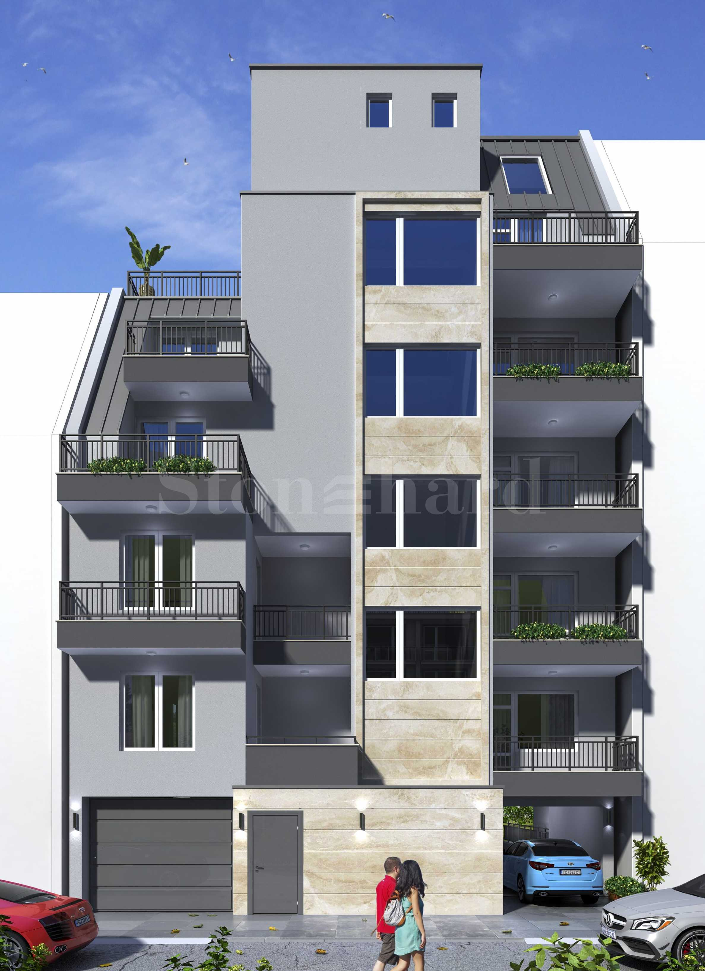 Apartments in a new building meters from