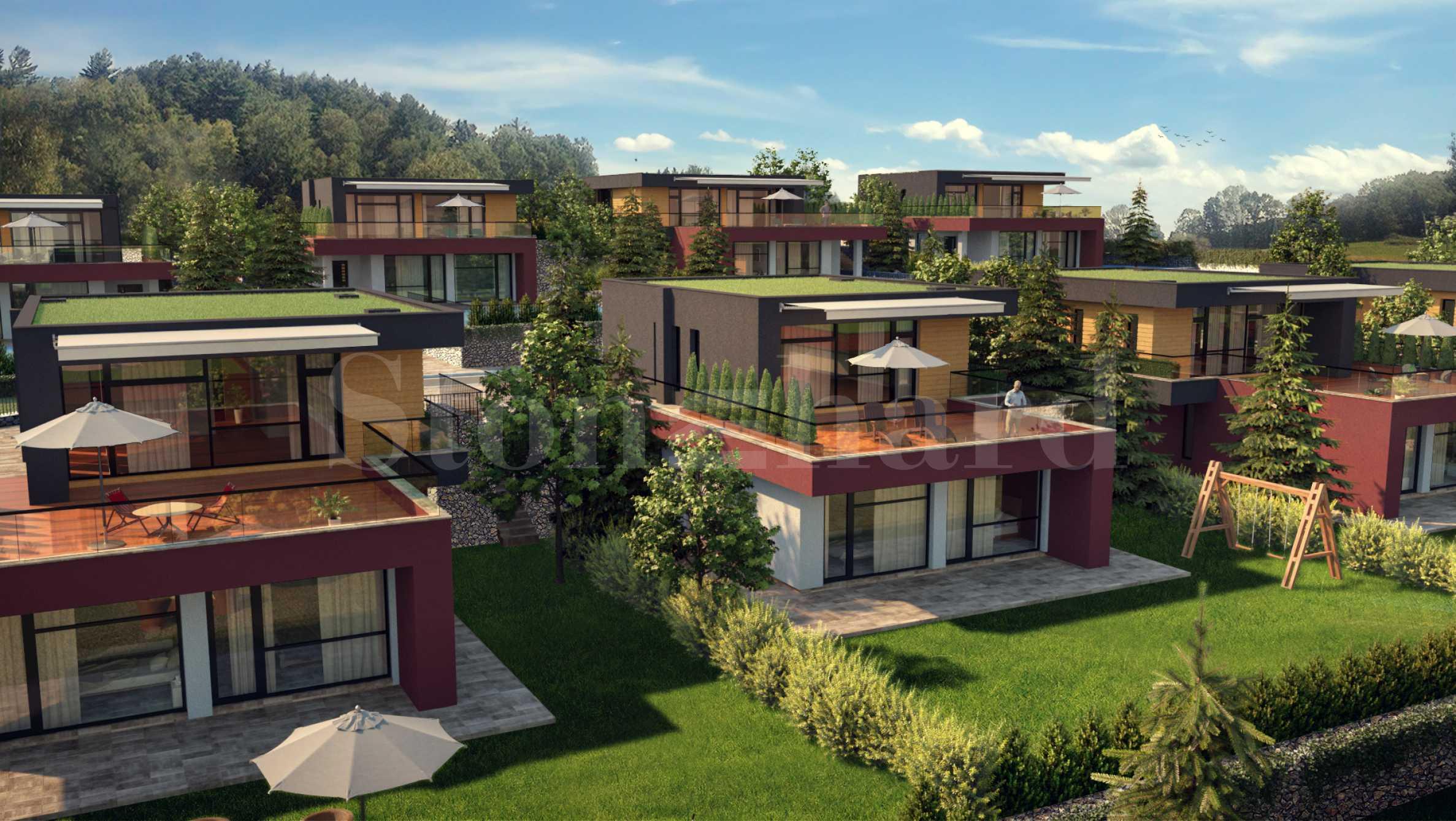 Еднофамилни къщи с озеленени дворове и басейн в нов комплекс в Перник1 - Stonehard