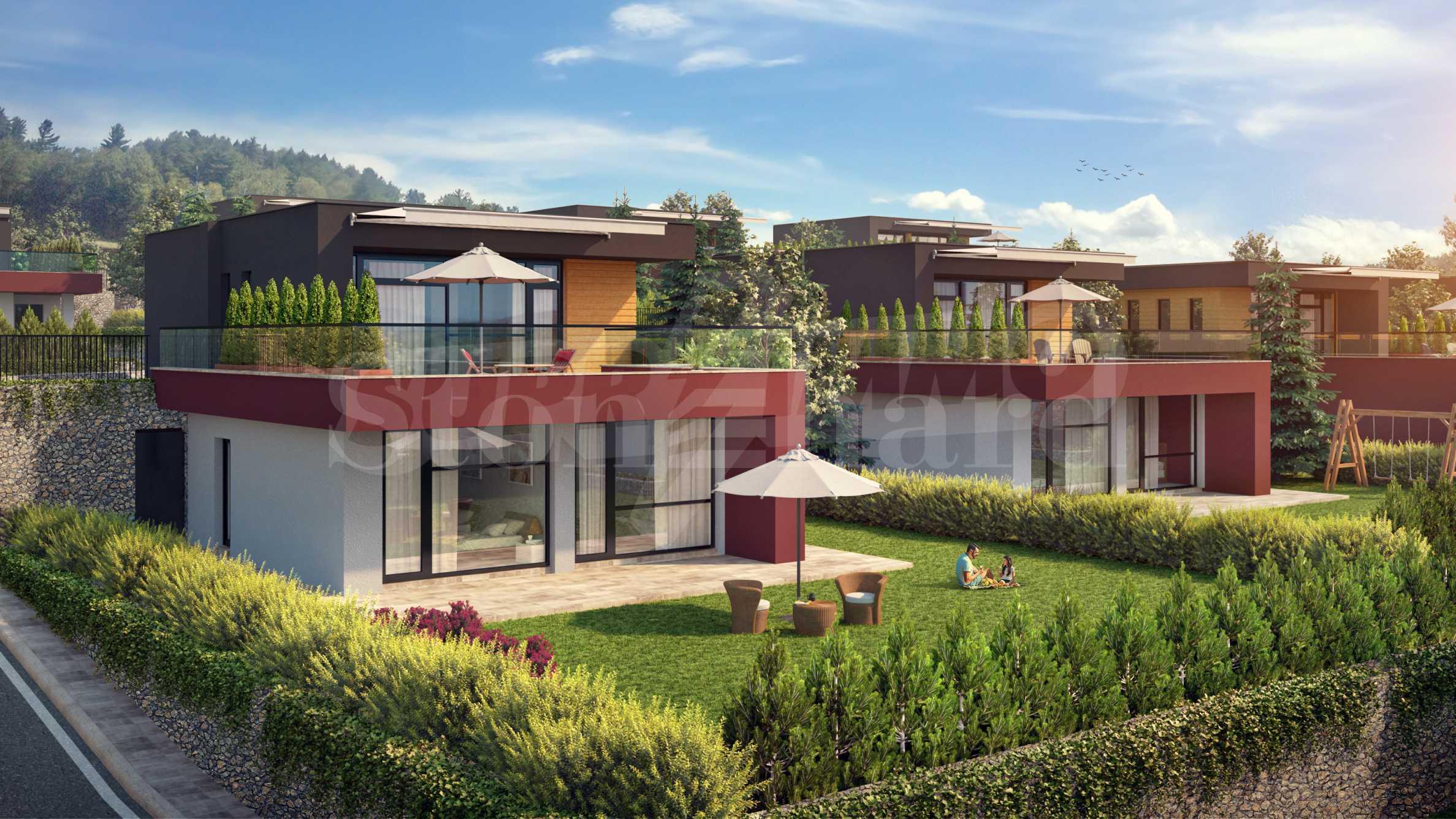 Еднофамилни къщи с озеленени дворове и басейн в нов комплекс в Перник2 - Stonehard