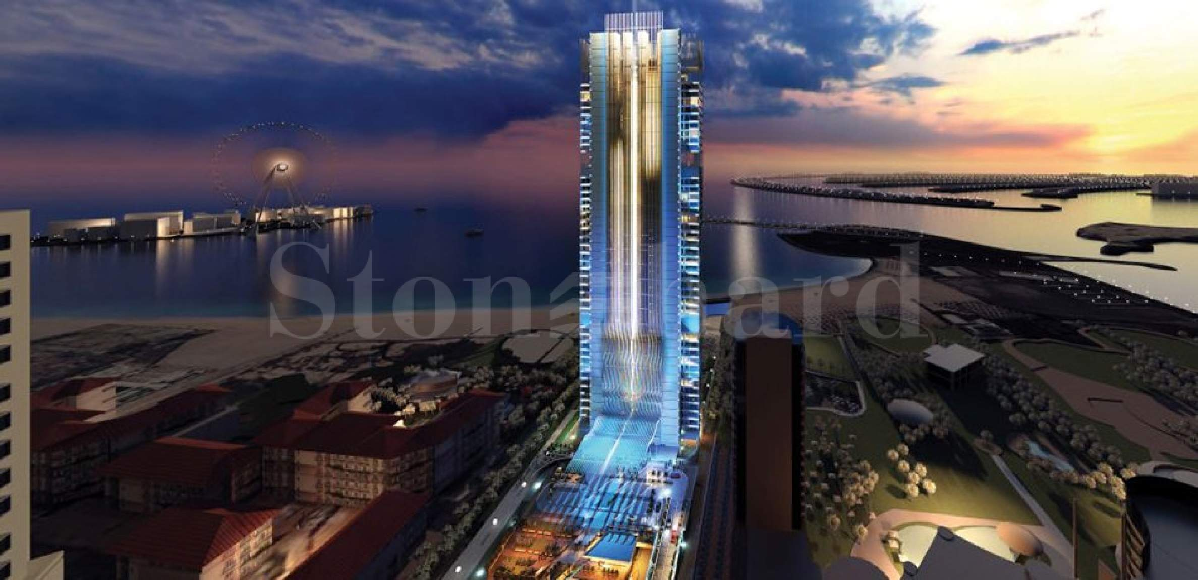 High end residential tower in Dubai Marina1 - Stonehard