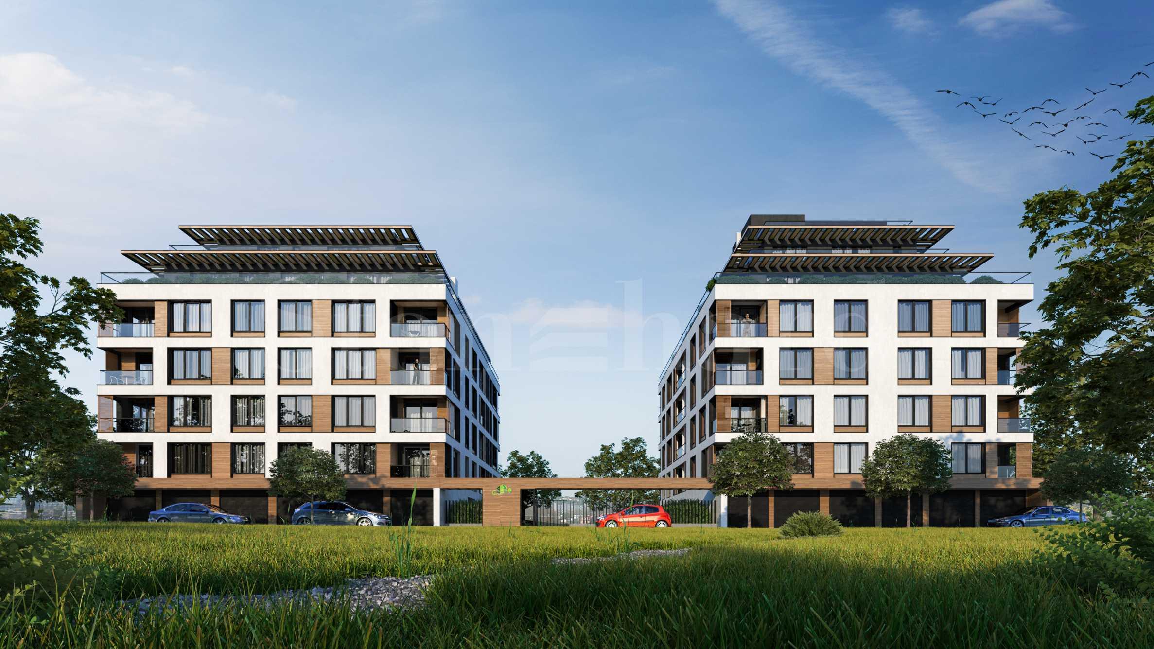 Нов комплекс с озеленен двор в комуникативен район до 3 метростанции 1 - Stonehard