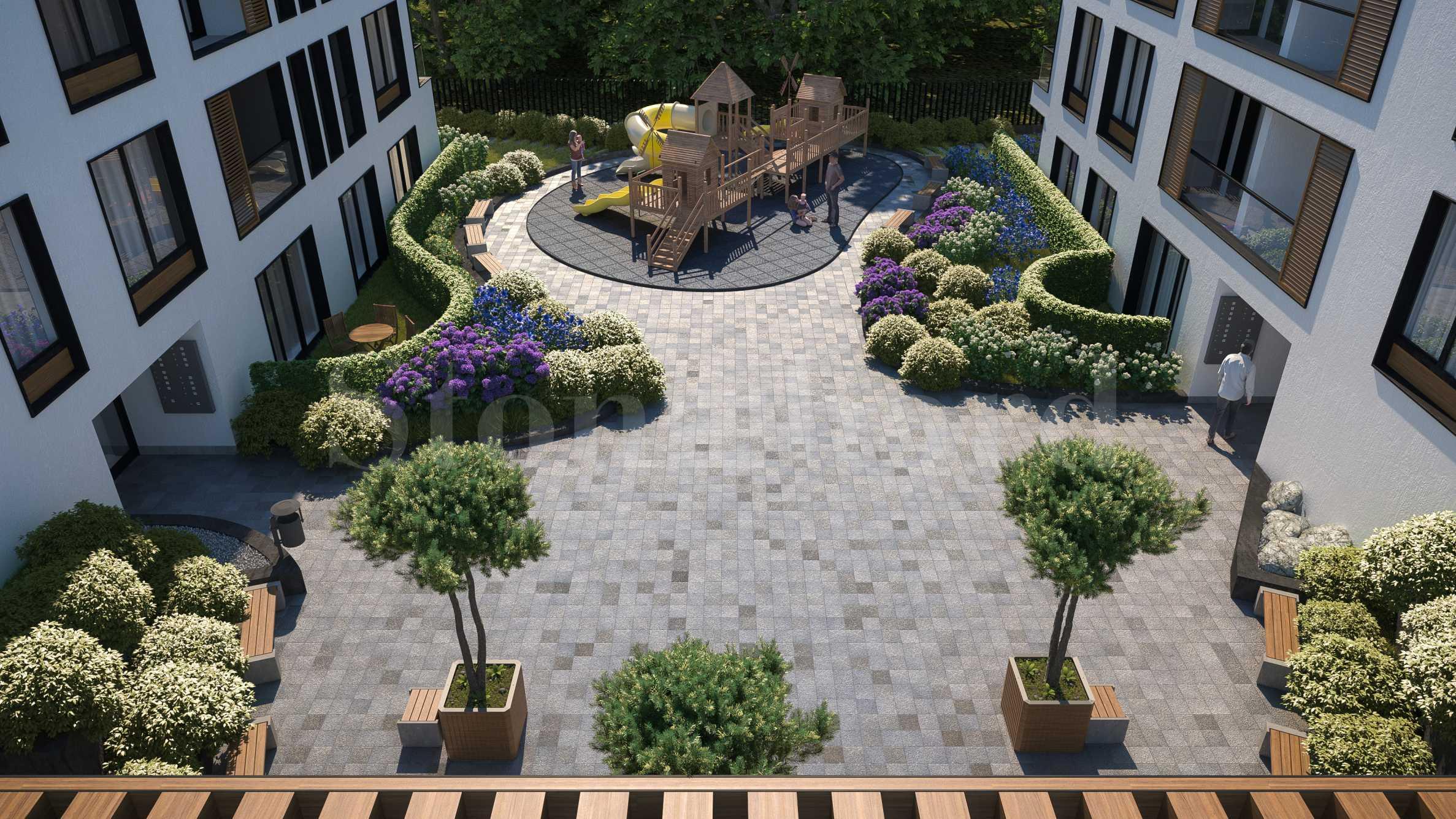 Нов комплекс с озеленен двор в комуникативен район до 3 метростанции 2 - Stonehard