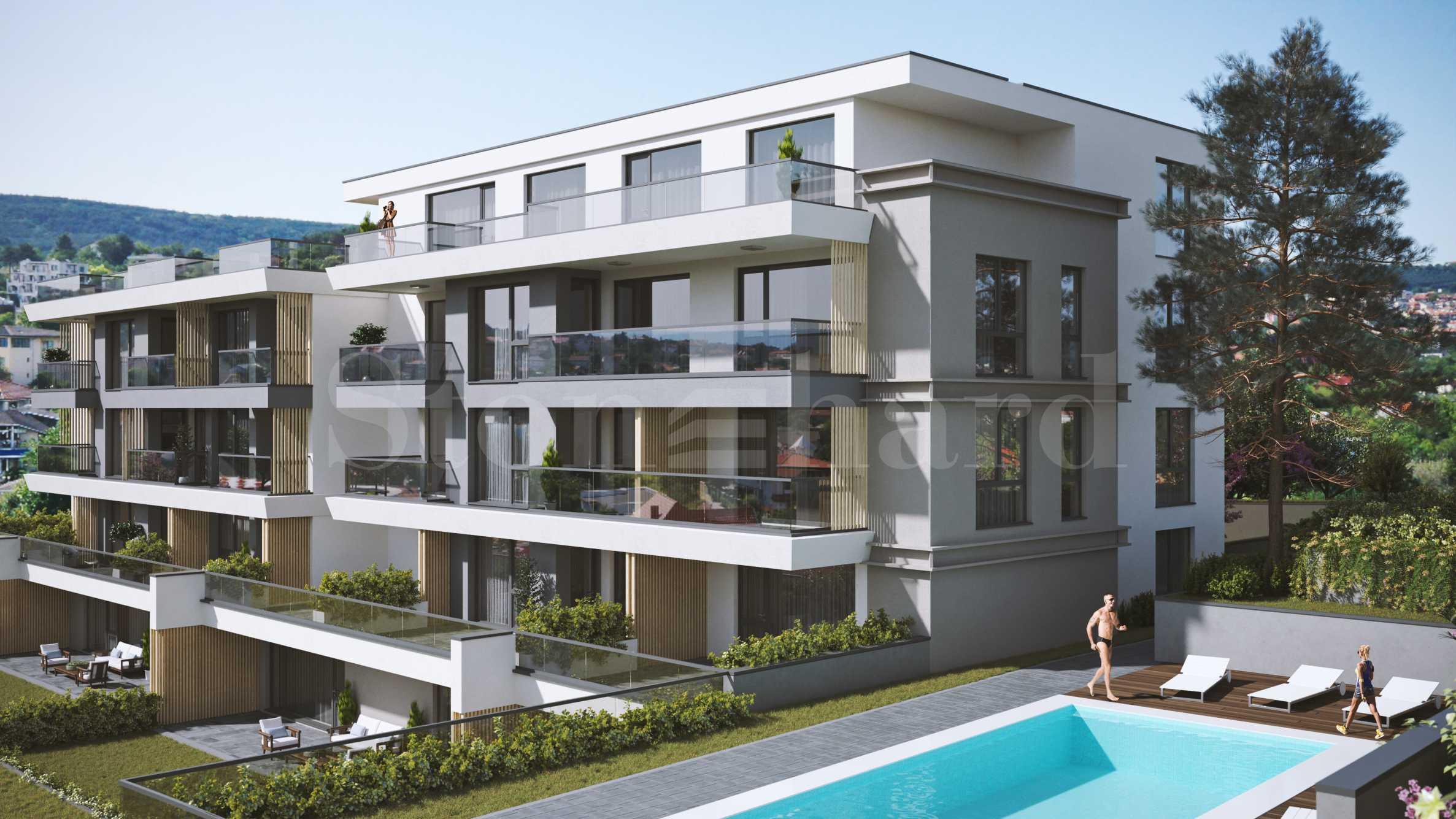 Нов комплекс с басейн и апартаменти с панорама море1 - Stonehard