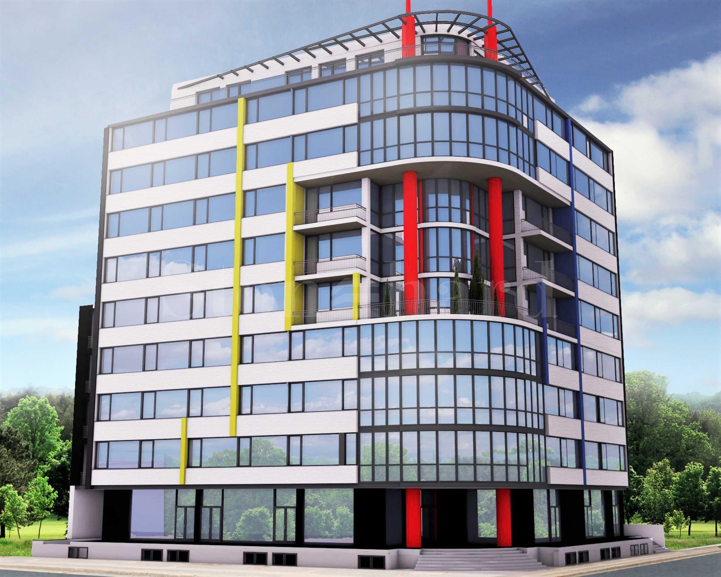 Модерна сграда с апартаменти и бизнес имоти до Летище София1 - Stonehard