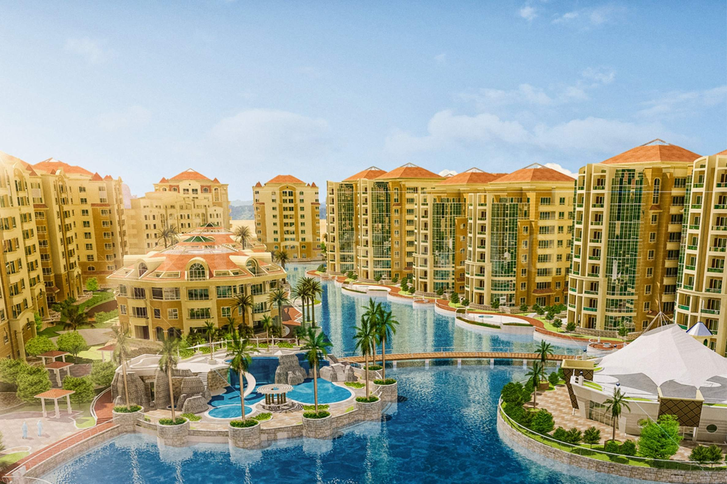 Luxury residential complex near lagoon in Dubai1 - Stonehard