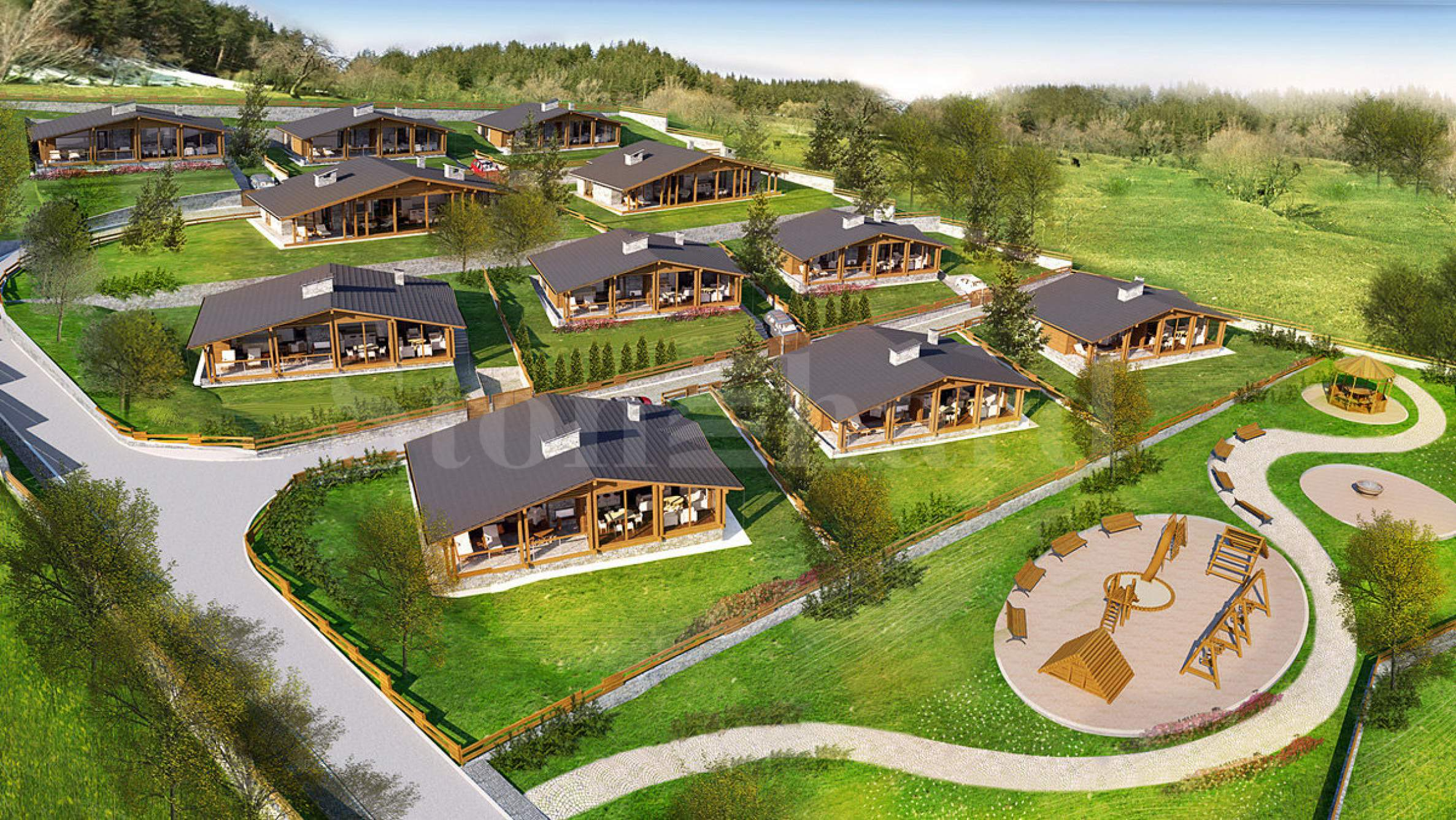 New-build mountain chalets near the ski resort of Bansko and Pirin Golf1 - Stonehard