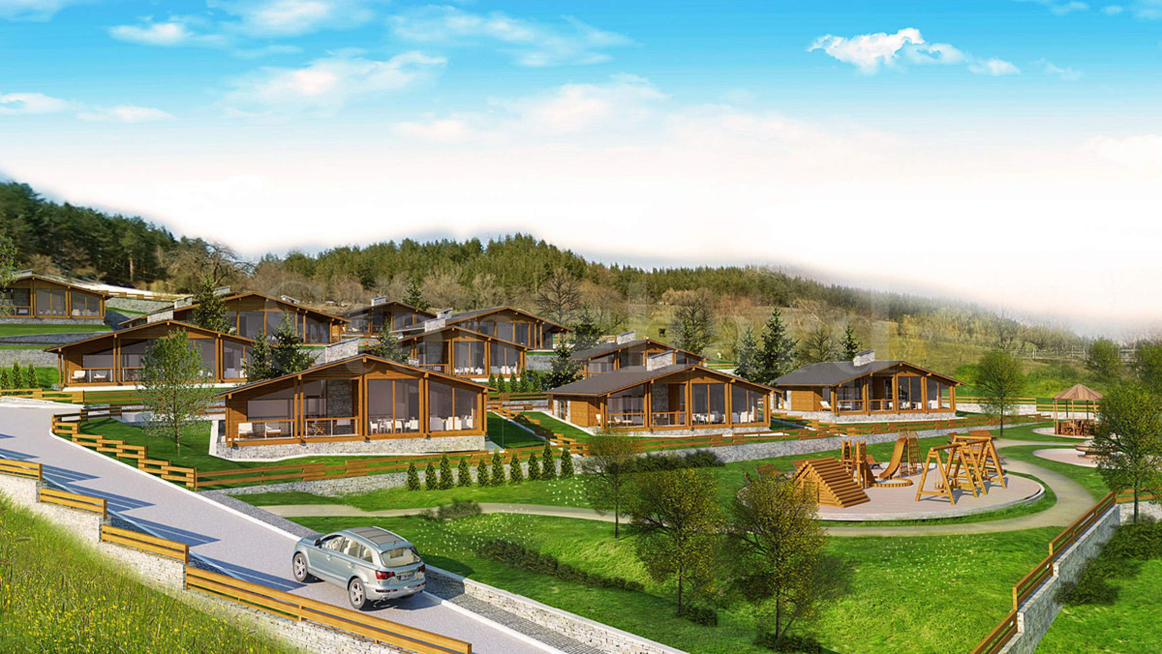 New-build mountain chalets near the ski resort of Bansko and Pirin Golf2 - Stonehard