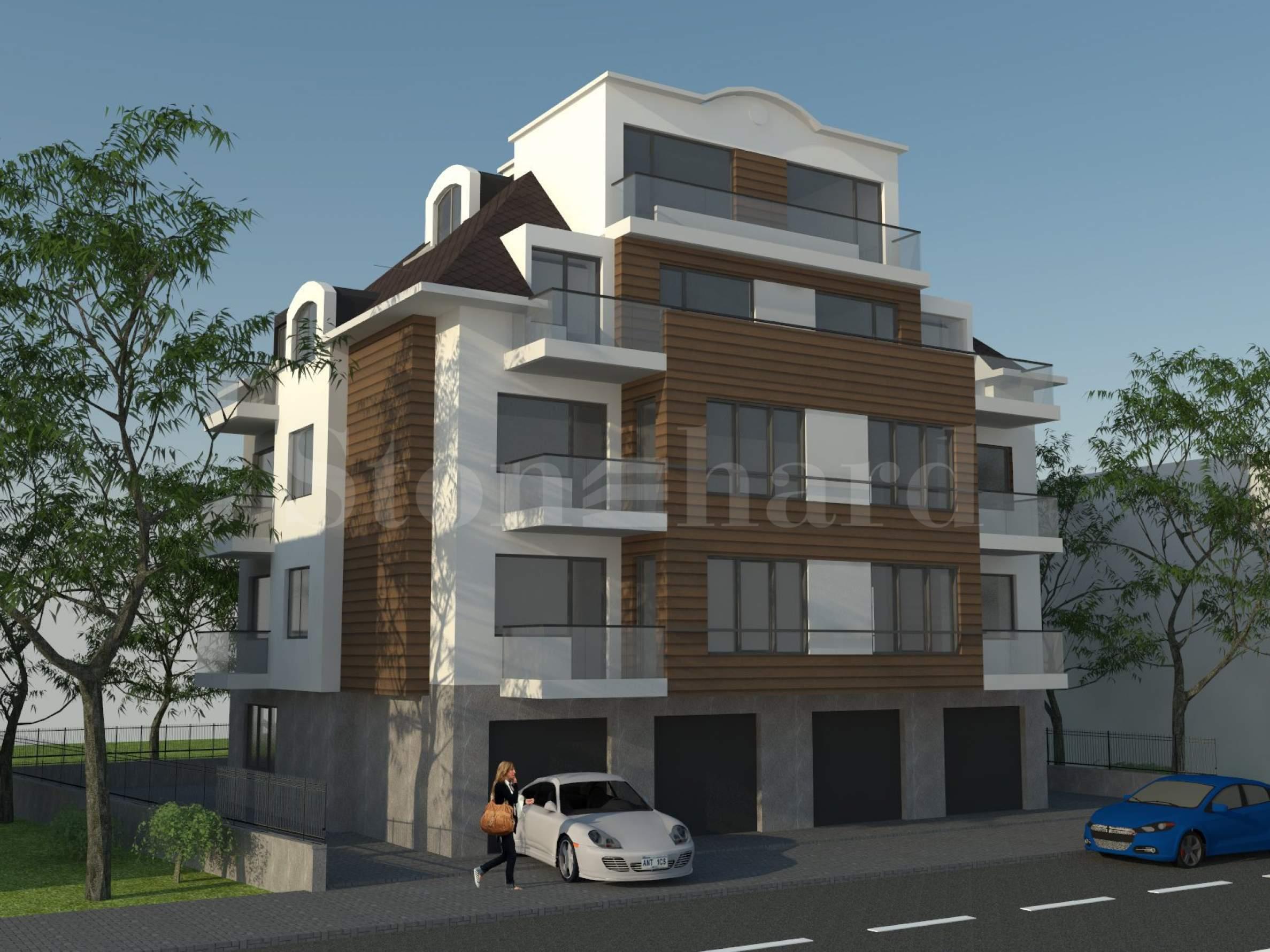Стилна сграда с апартаменти до бул. Черни връх, кв. Кръстова вада1 - Stonehard