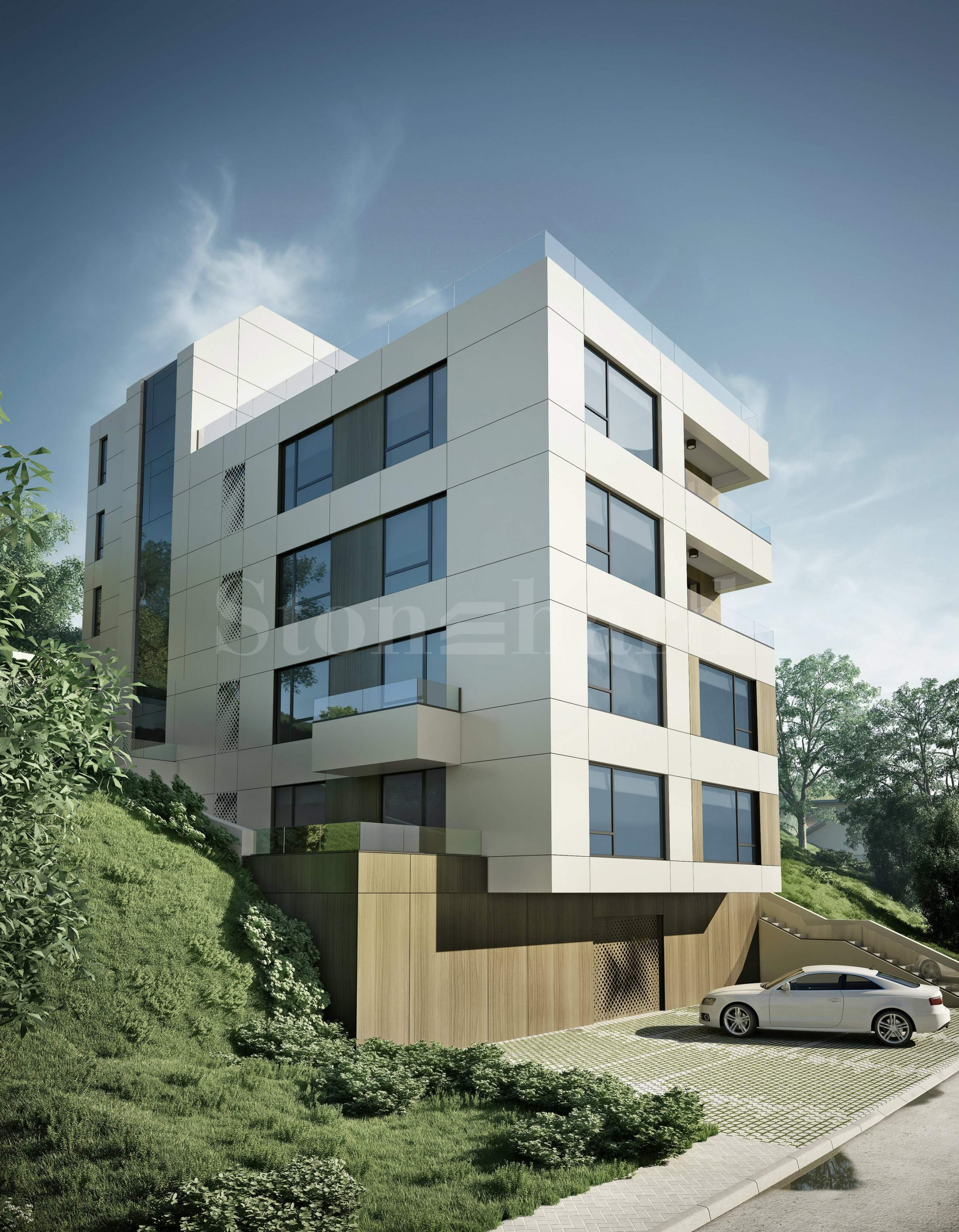 Modern residential building in Briz district2 - Stonehard