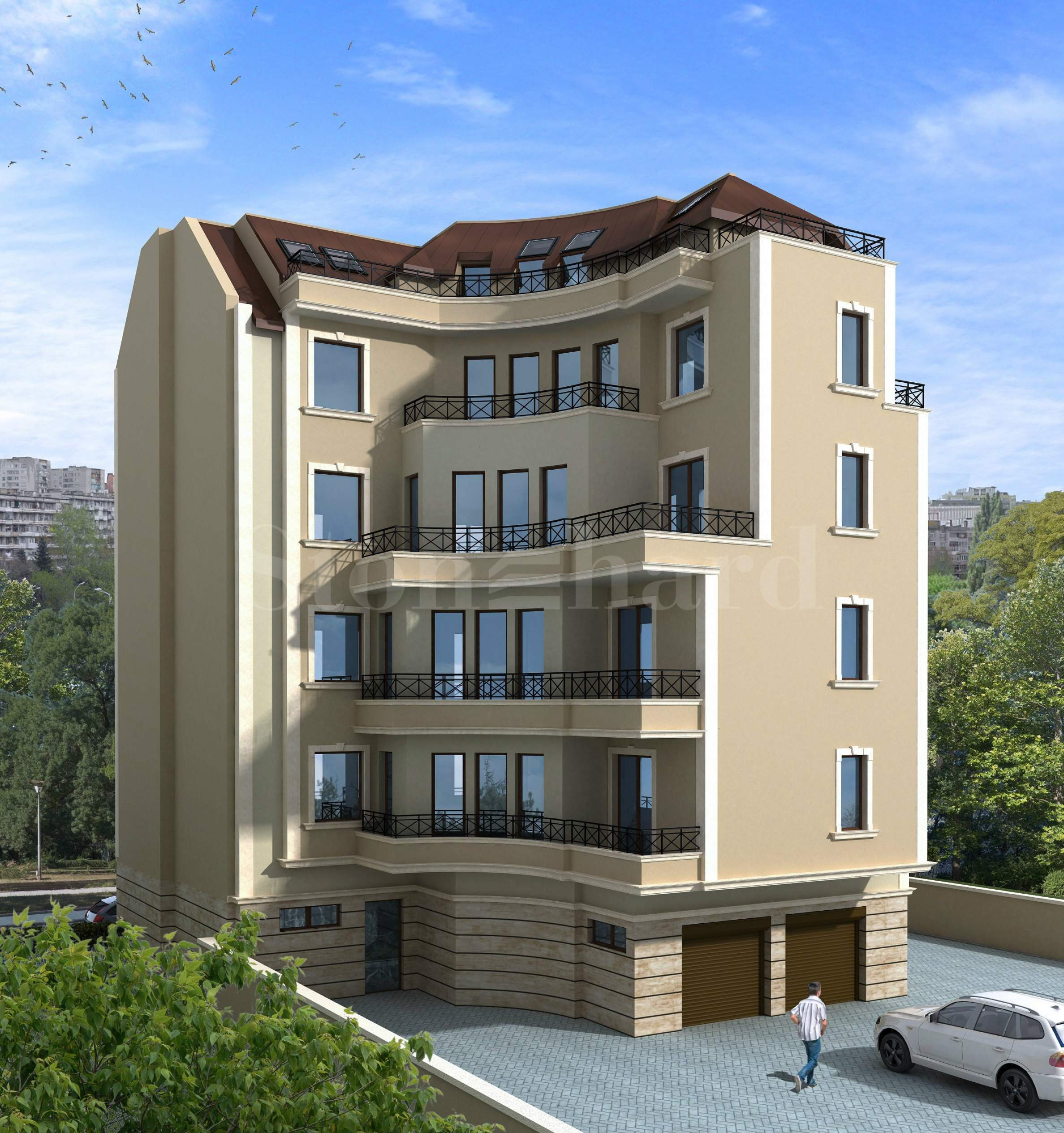 Residential building near the Palace of Culture and Sports1 - Stonehard