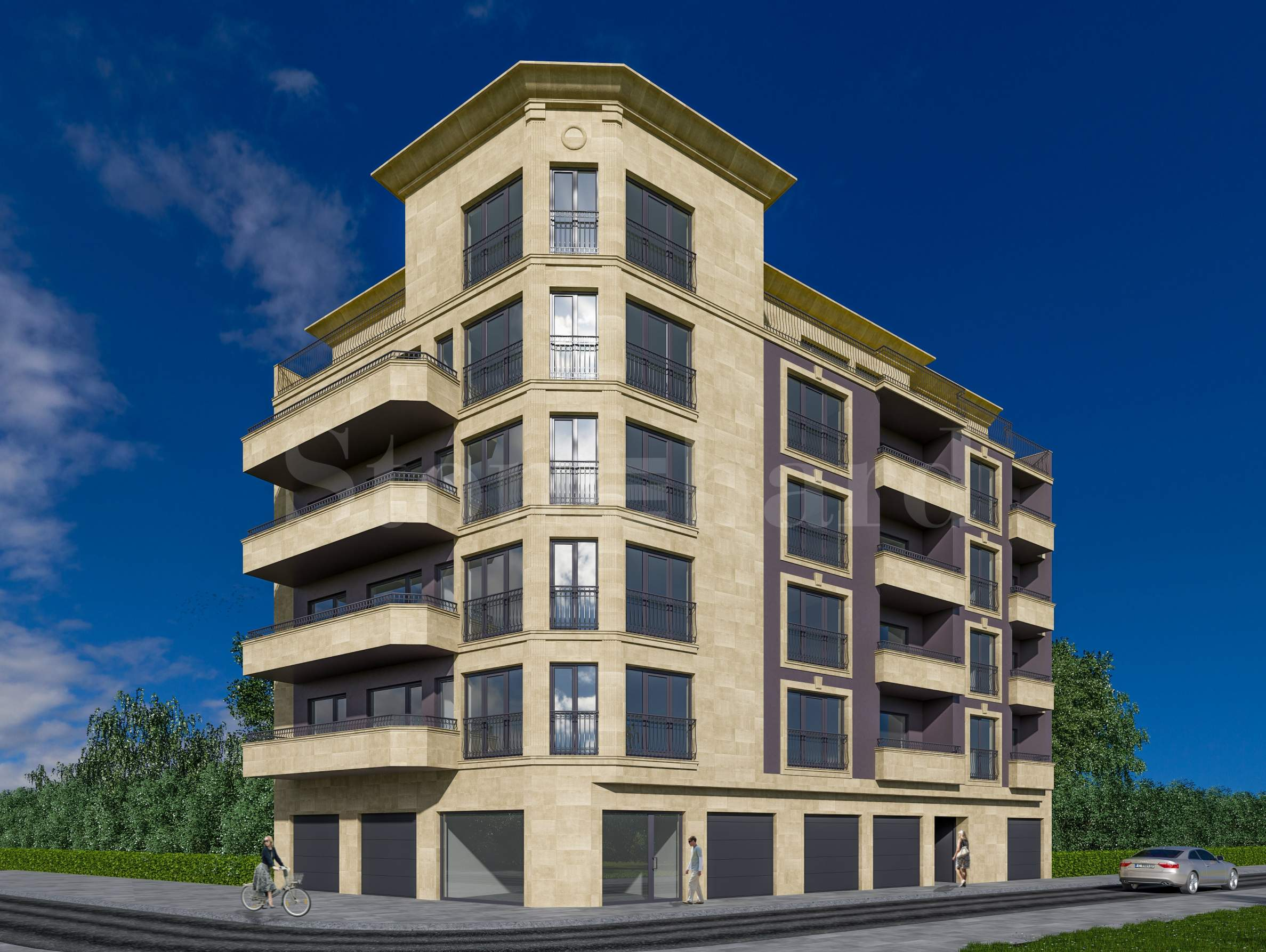 Modern apartments near South Park, Mall Paradise, metro station Vitosha1 - Stonehard