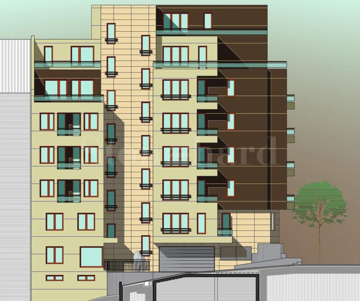 Newly constructed building with excellent location in Slatina District1 - Stonehard