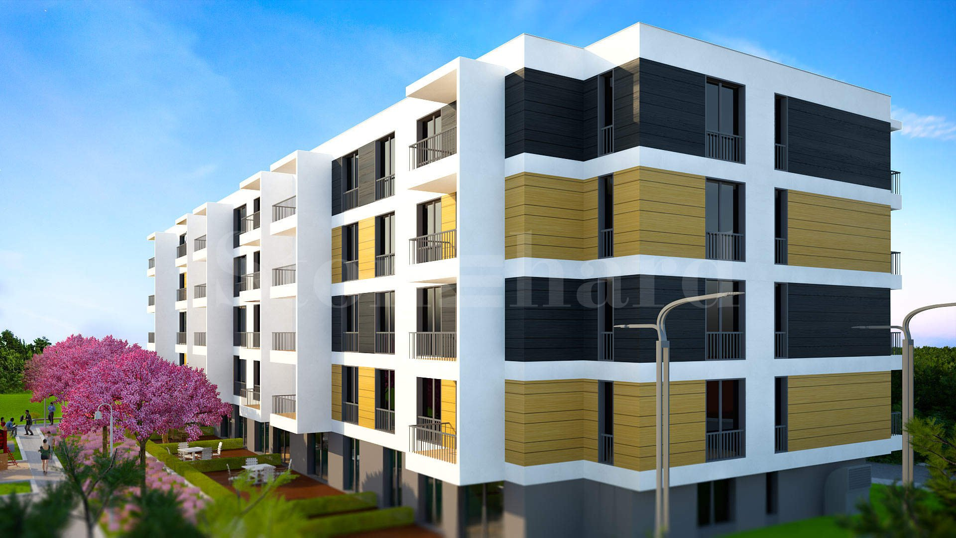 Residential building with luxury apartments and underground garages2 - Stonehard