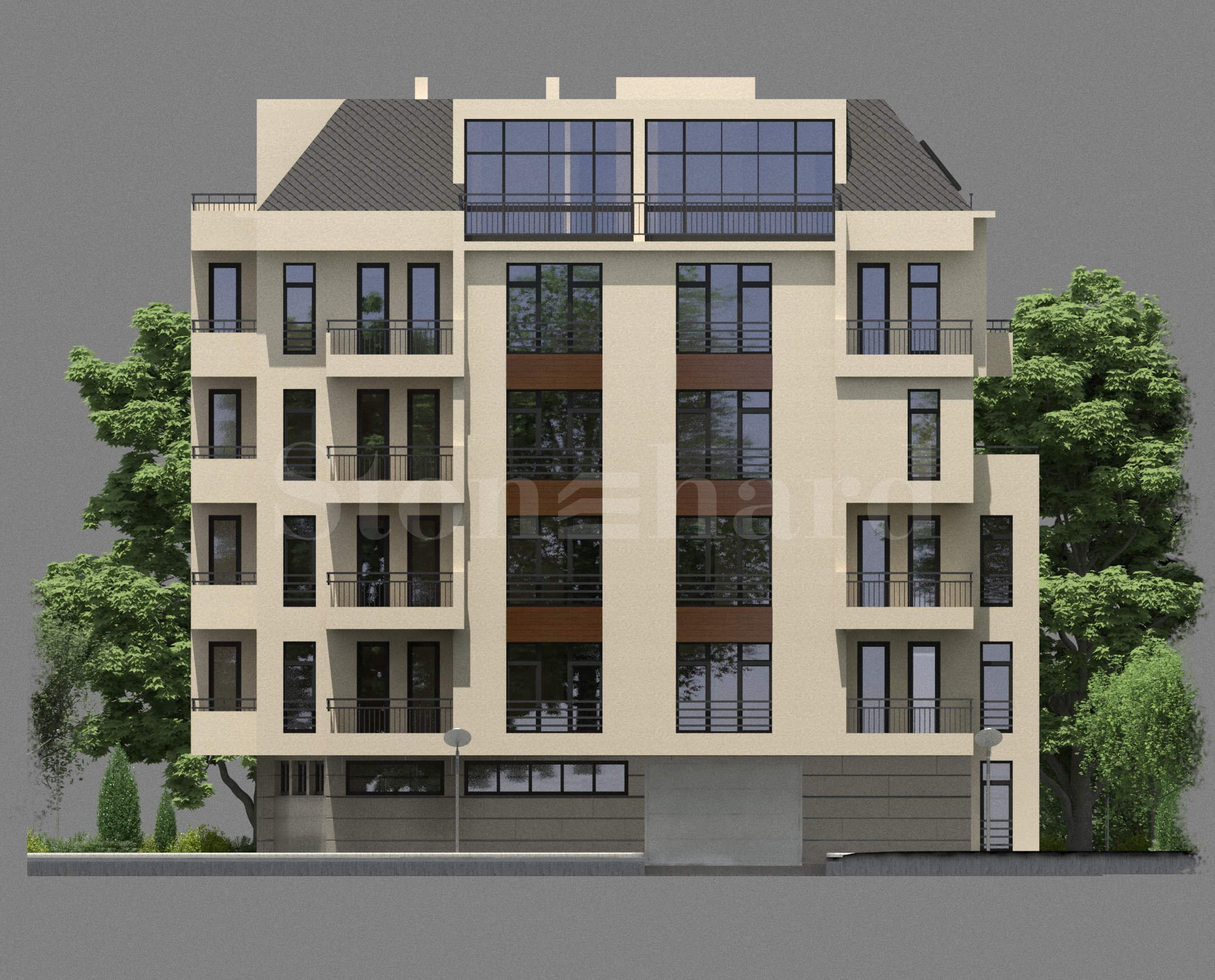 Модерна жилищна сграда с гаражи и паркоместа 1 - Stonehard