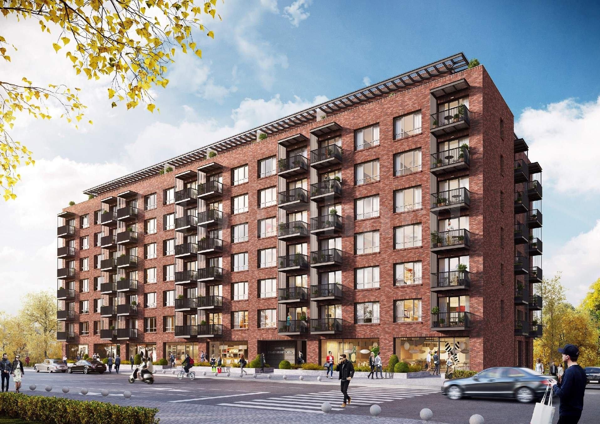 Многофамилна жилищна сграда с хармоничен дизайн и озеленен парк  1 - Stonehard
