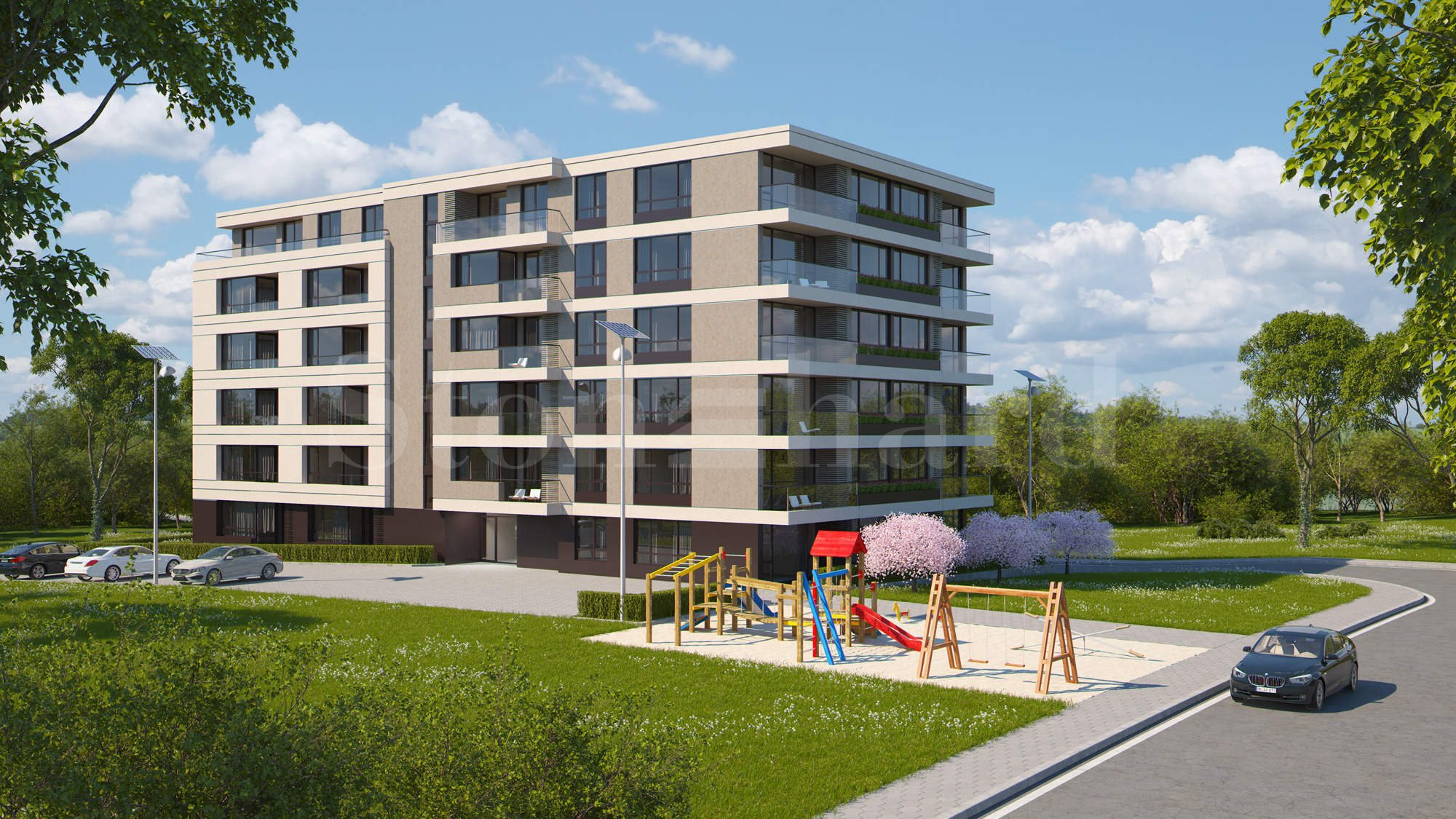 New residential building with apartments and underground garages in Malinova Dolina District1 - Stonehard