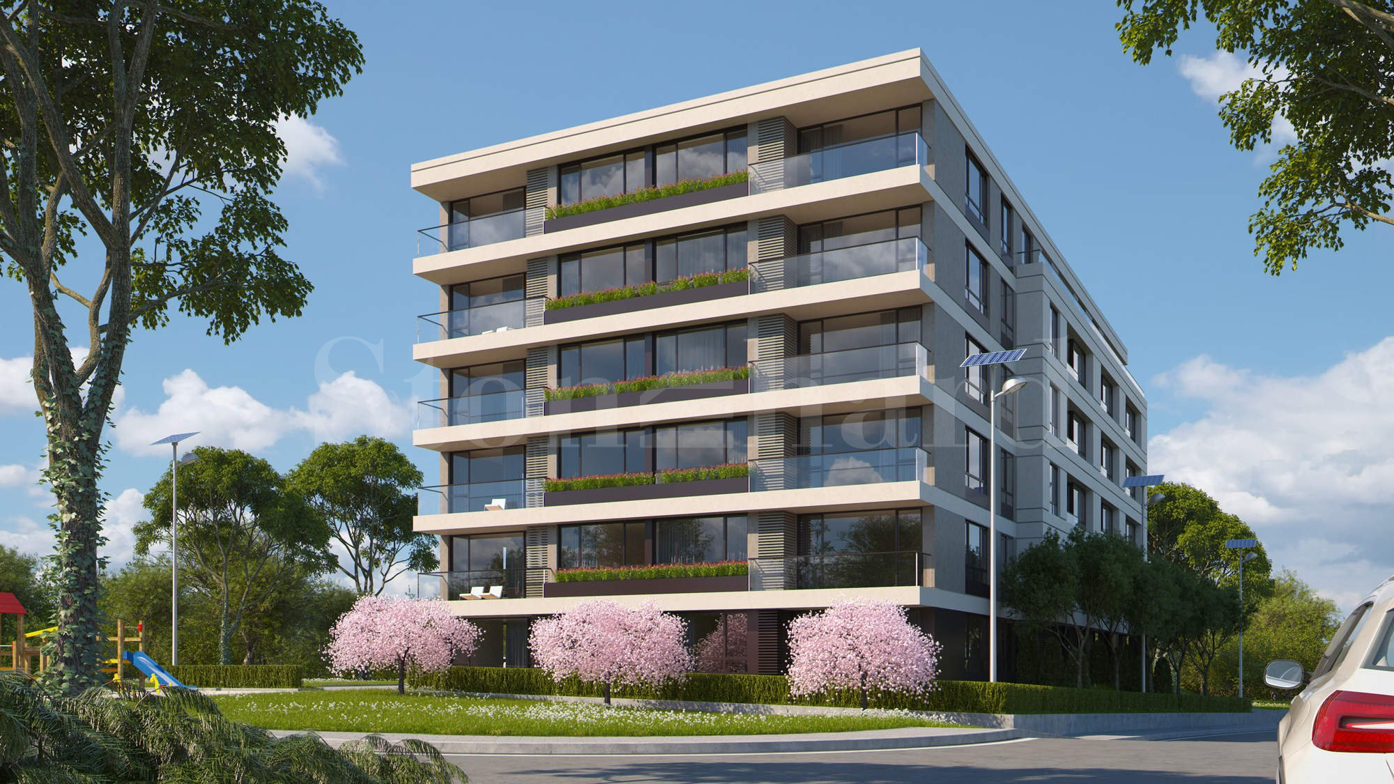 New residential building with apartments and underground garages in Malinova Dolina District2 - Stonehard