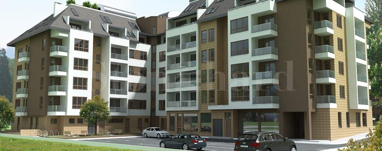 Модерна жилищна сграда с открит и подземен паркинг в близост до мол